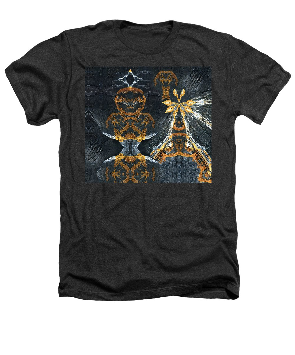 Rocks Heathers T-Shirt featuring the digital art Rock Gods Lichen Lady And Lords by Nancy Griswold