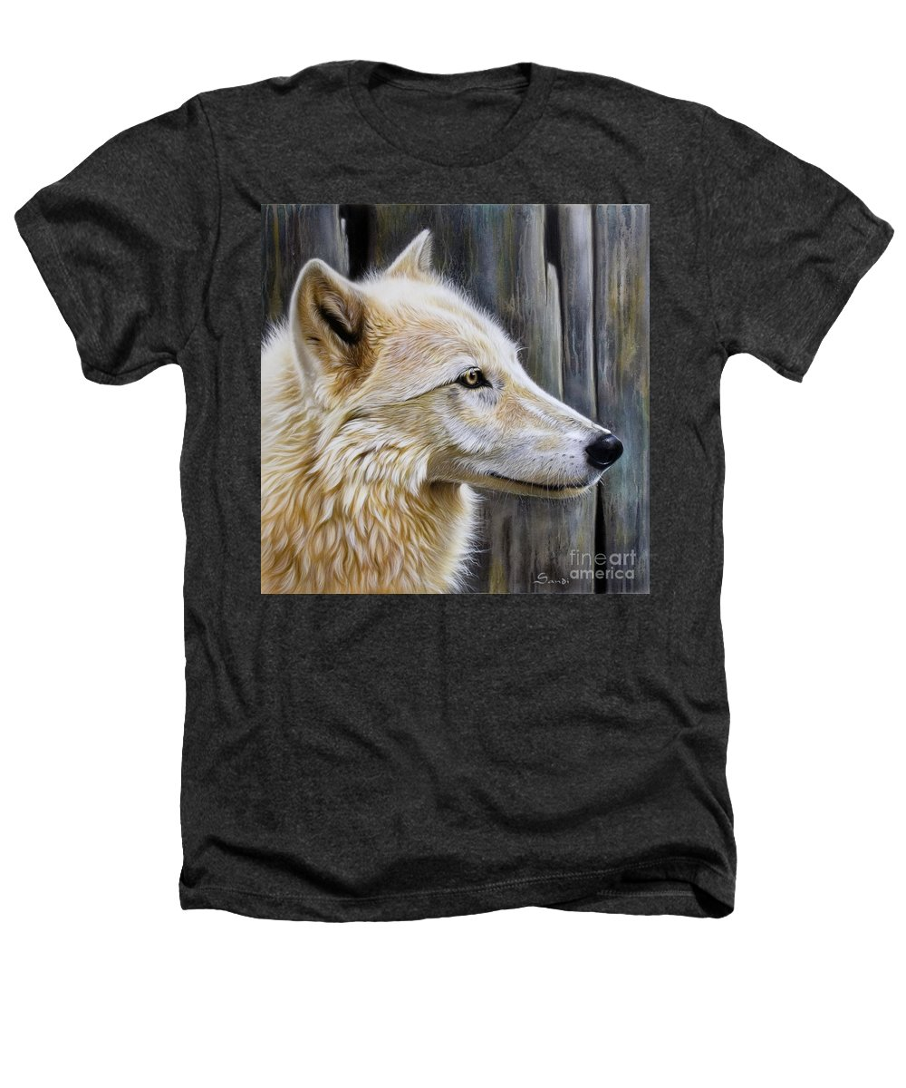 Wolves Heathers T-Shirt featuring the painting Rose by Sandi Baker