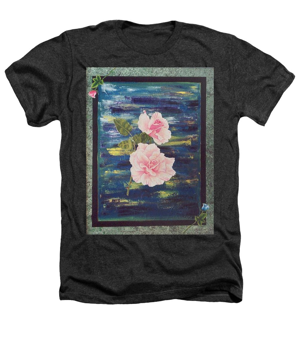 Rose Heathers T-Shirt featuring the painting Roses by Micah Guenther