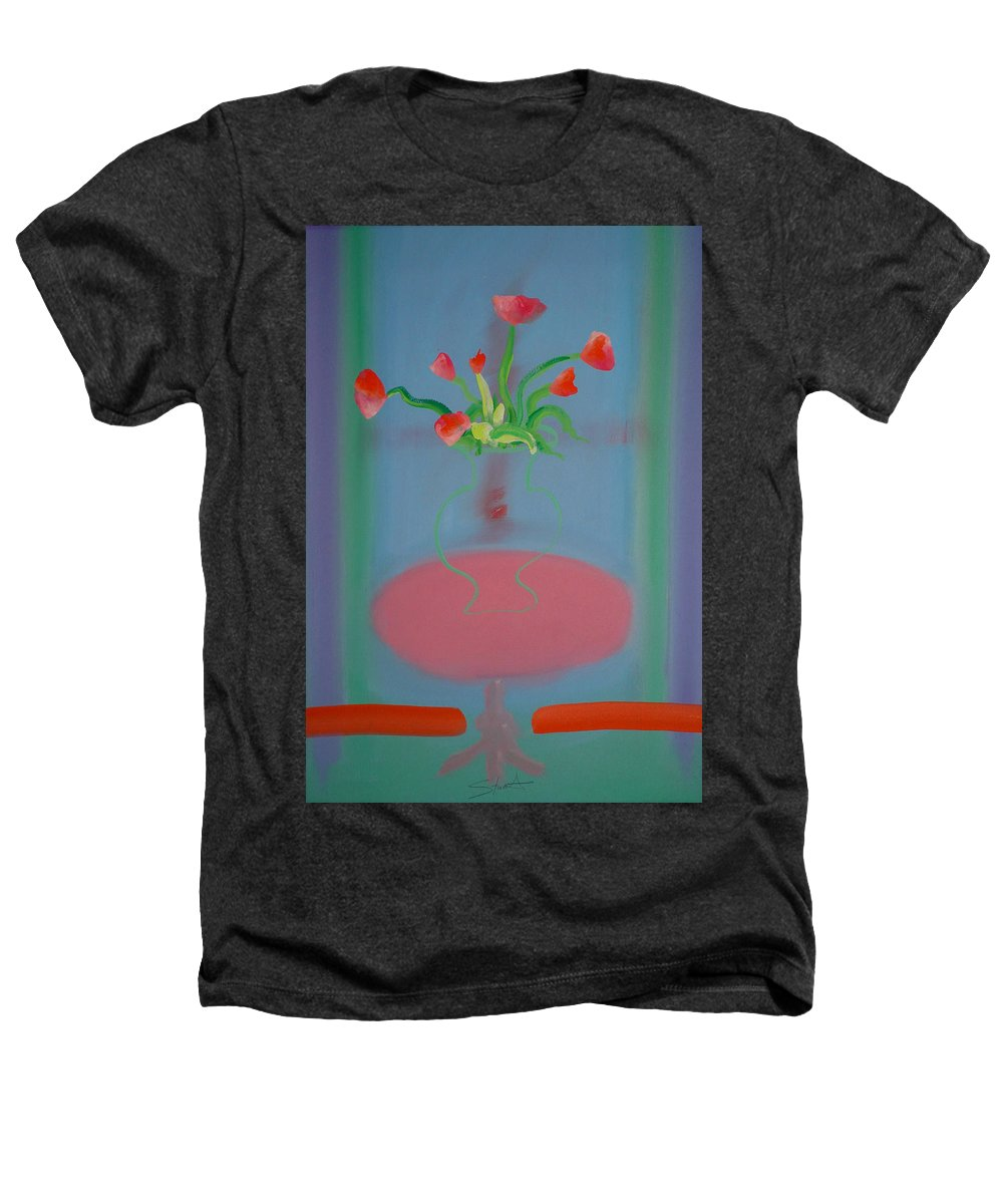 Flower Heathers T-Shirt featuring the painting Rouseau Flowers by Charles Stuart