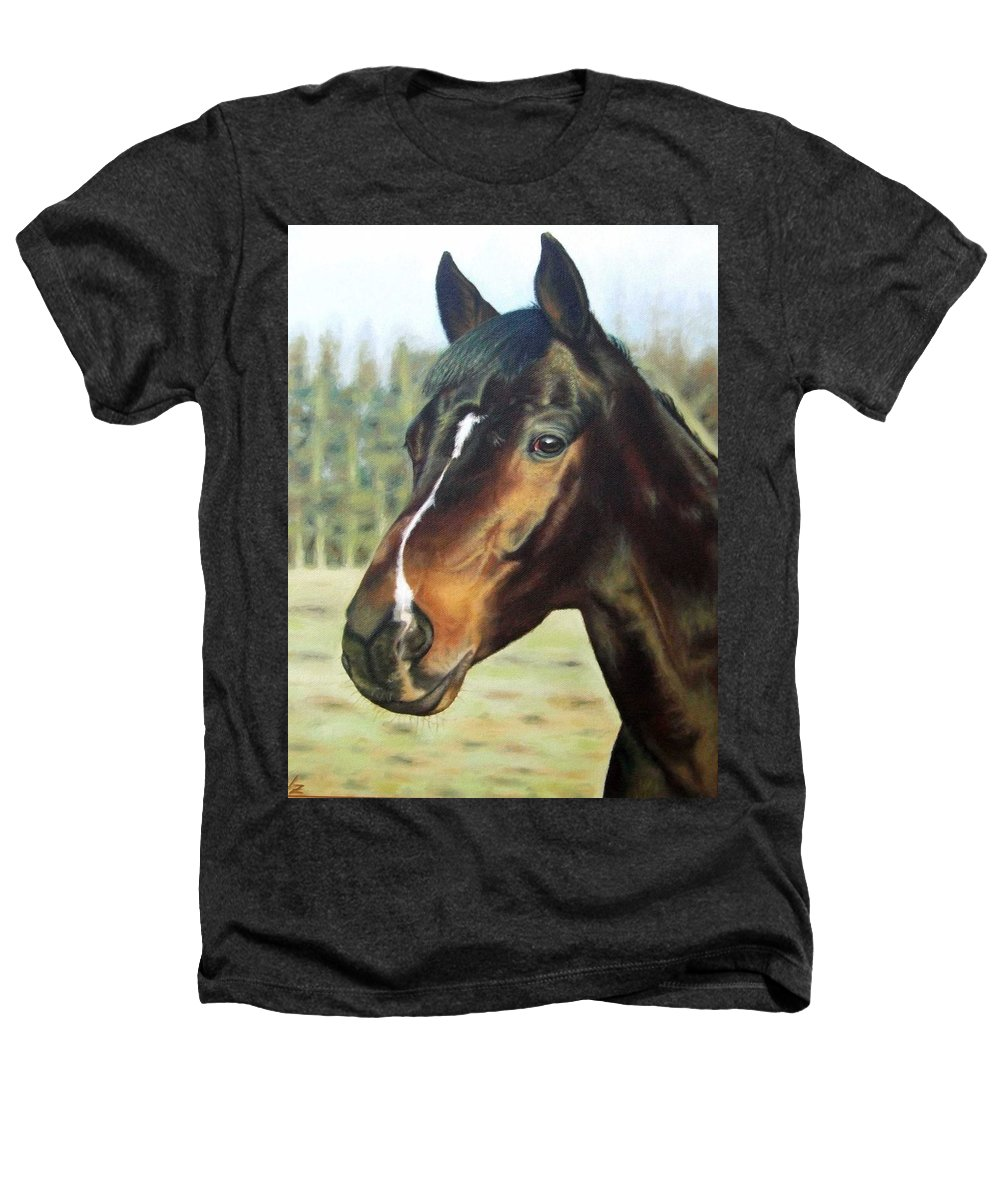 Horse Heathers T-Shirt featuring the painting Russian Horse by Nicole Zeug