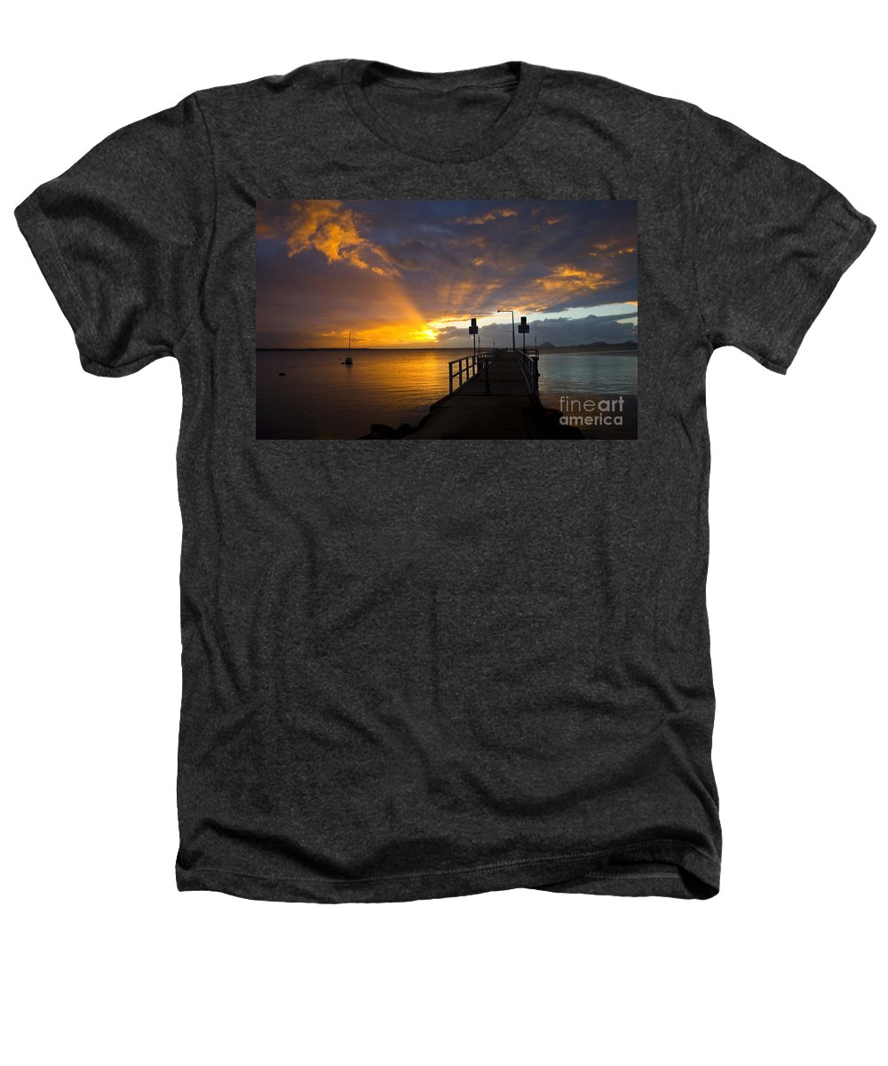 Sunrise Heathers T-Shirt featuring the photograph Salamander Bay Sunrise by Avalon Fine Art Photography