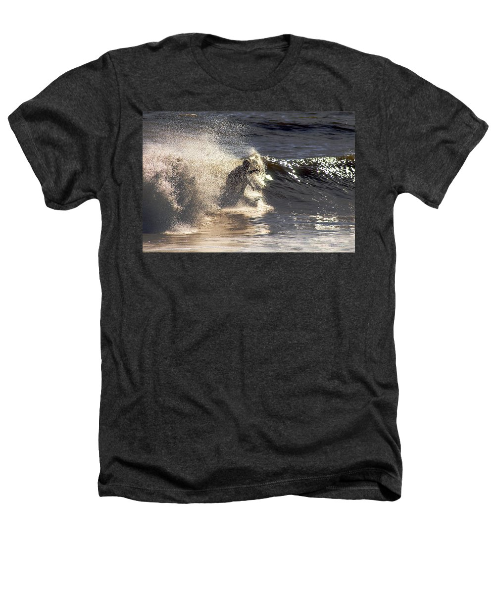 Clay Heathers T-Shirt featuring the photograph Salt Spray Surfing by Clayton Bruster