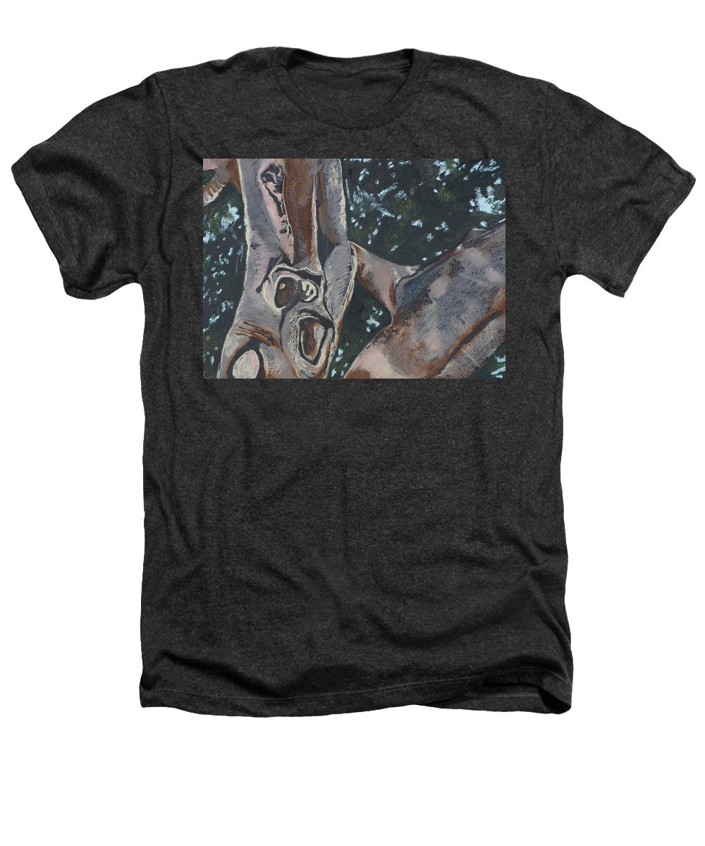 Contemporary Tree Heathers T-Shirt featuring the drawing San Diego Zoo by Leah Tomaino