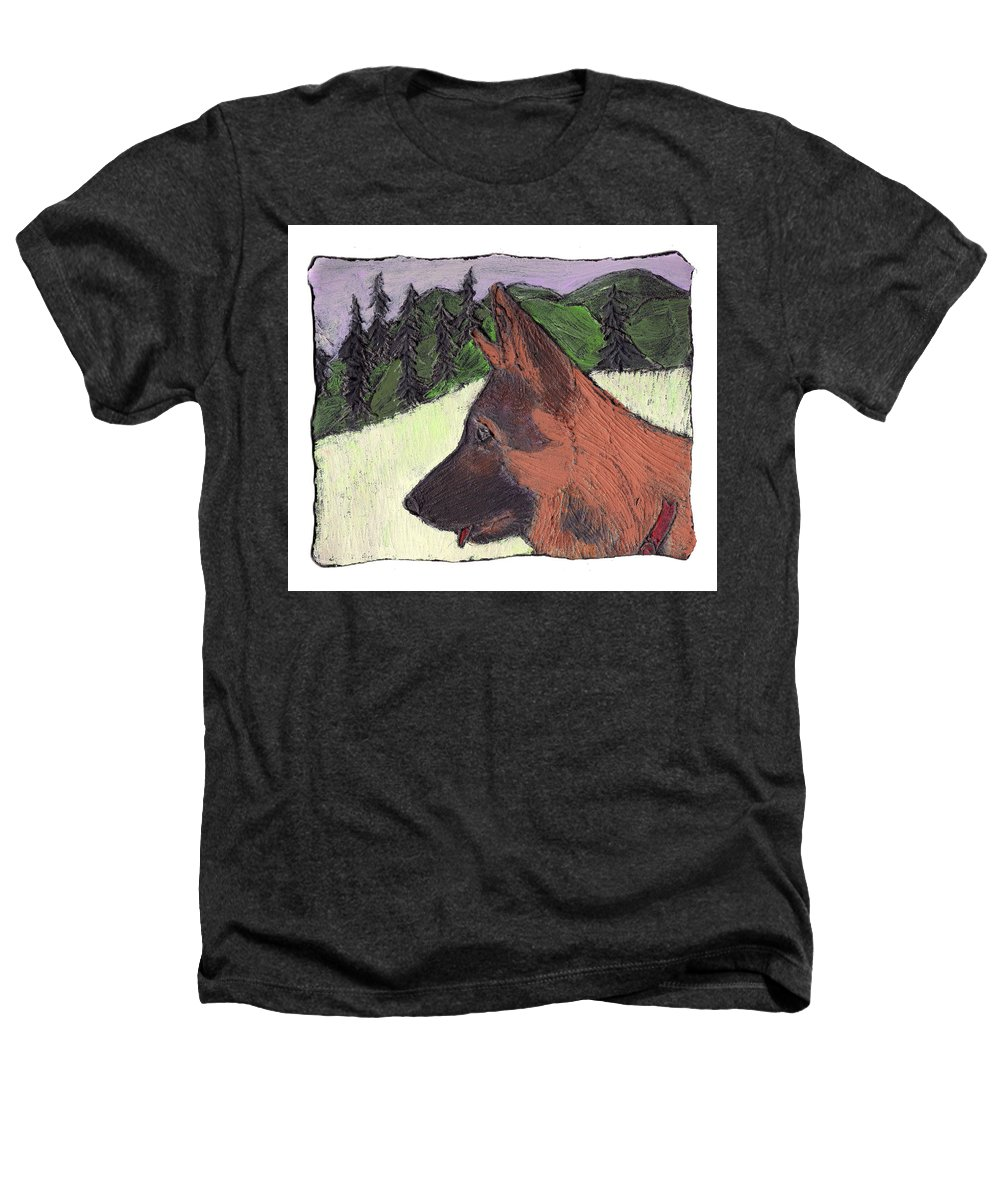 Dog Heathers T-Shirt featuring the painting Sarge by Wayne Potrafka