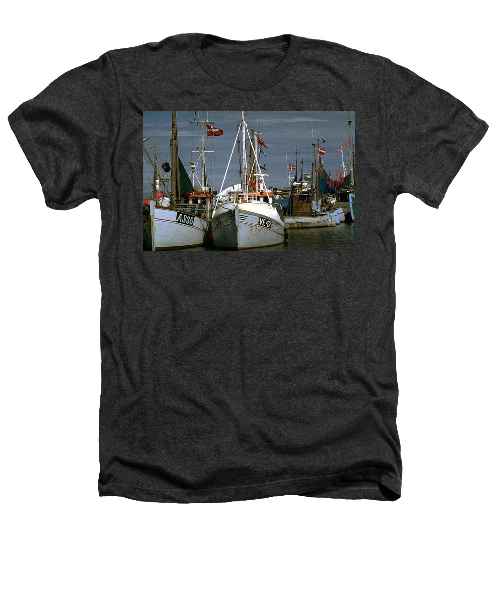 Scandinavian Heathers T-Shirt featuring the photograph Scandinavian Fisher Boats by Flavia Westerwelle