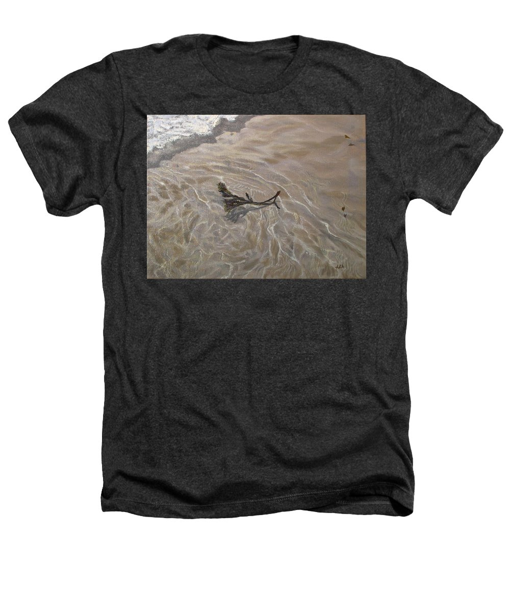 Seascape Heathers T-Shirt featuring the painting Seashore Reflections by Lea Novak