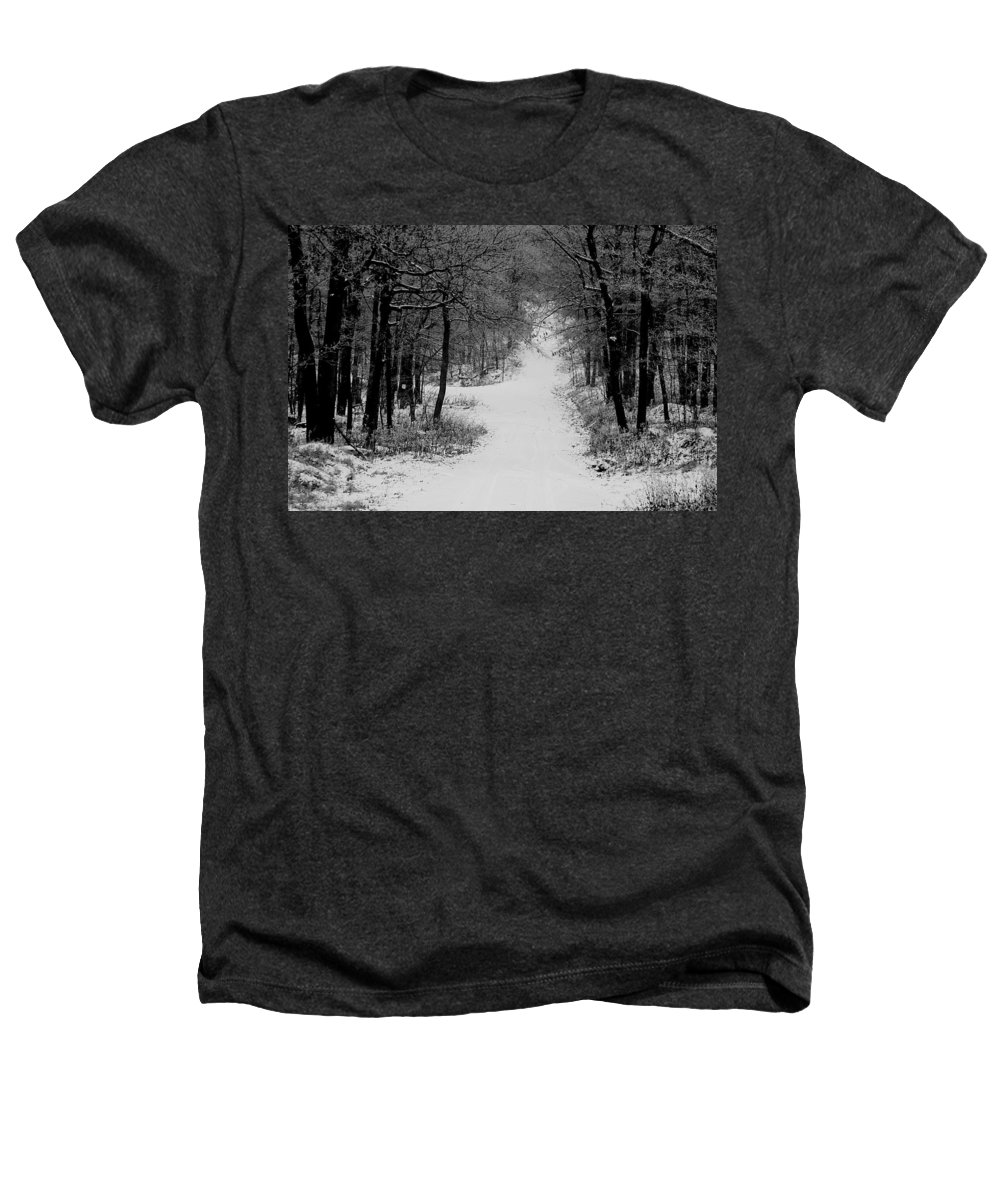 Snow Heathers T-Shirt featuring the photograph See Where It Leads. by Jean Macaluso
