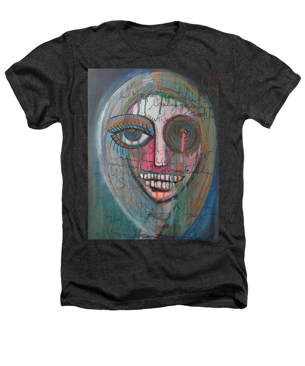 Self Portraits Heathers T-Shirt featuring the painting Self Portrait Youre Beautiful by Laurie Maves ART