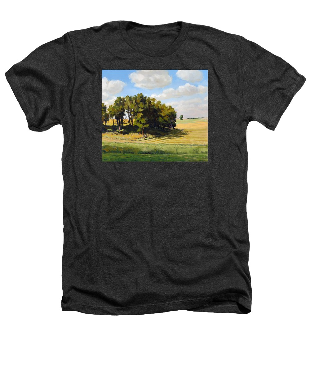 Landscape Heathers T-Shirt featuring the painting September Summer by Bruce Morrison