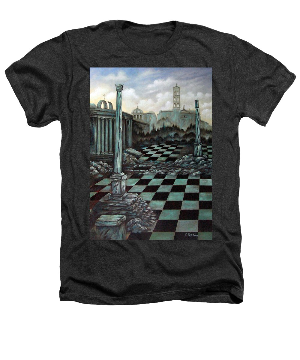 Surreal Heathers T-Shirt featuring the painting Sepulchre by Valerie Vescovi