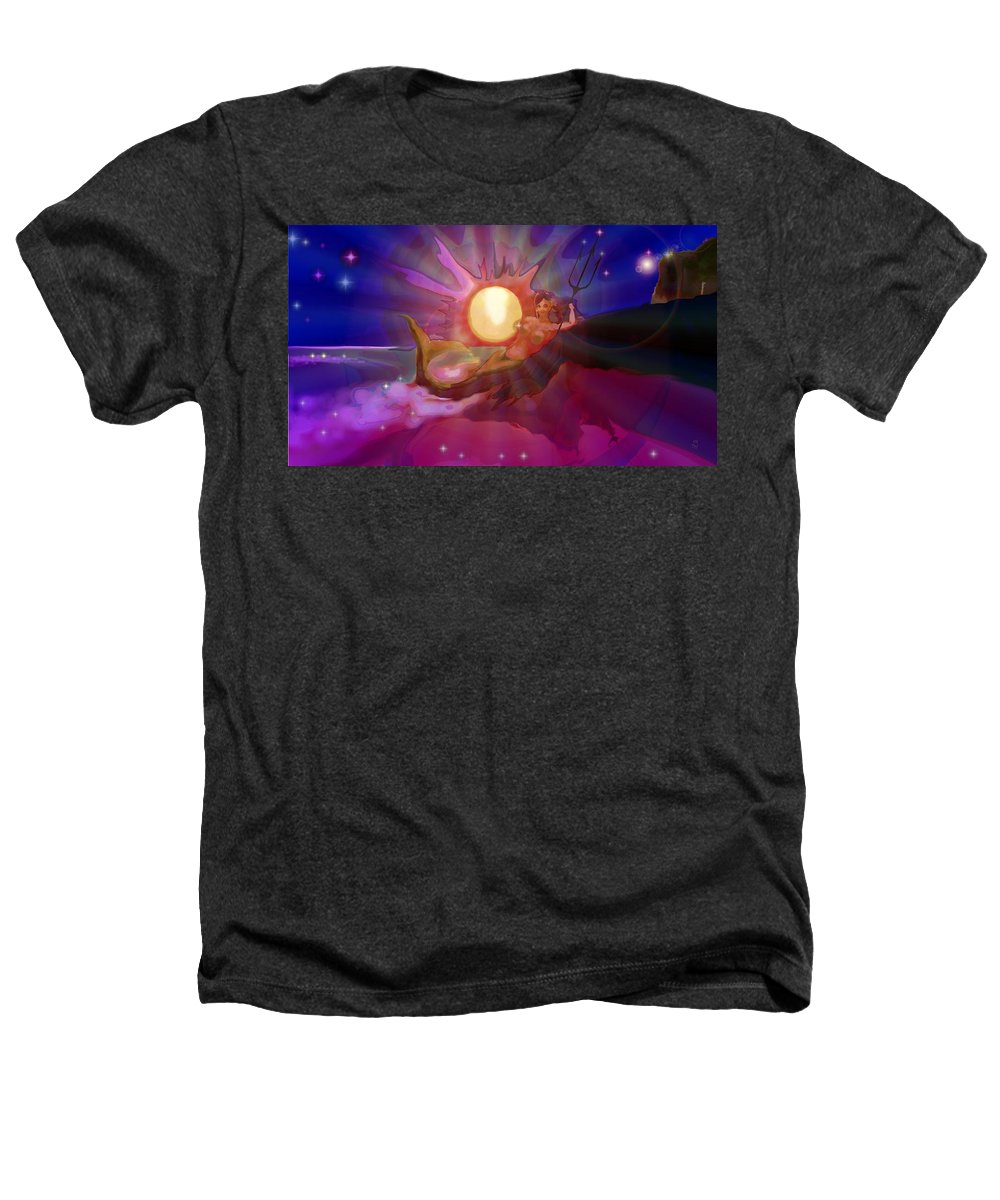 Sera Heathers T-Shirt featuring the digital art Sera Maroon by Mark Kleinschnitz