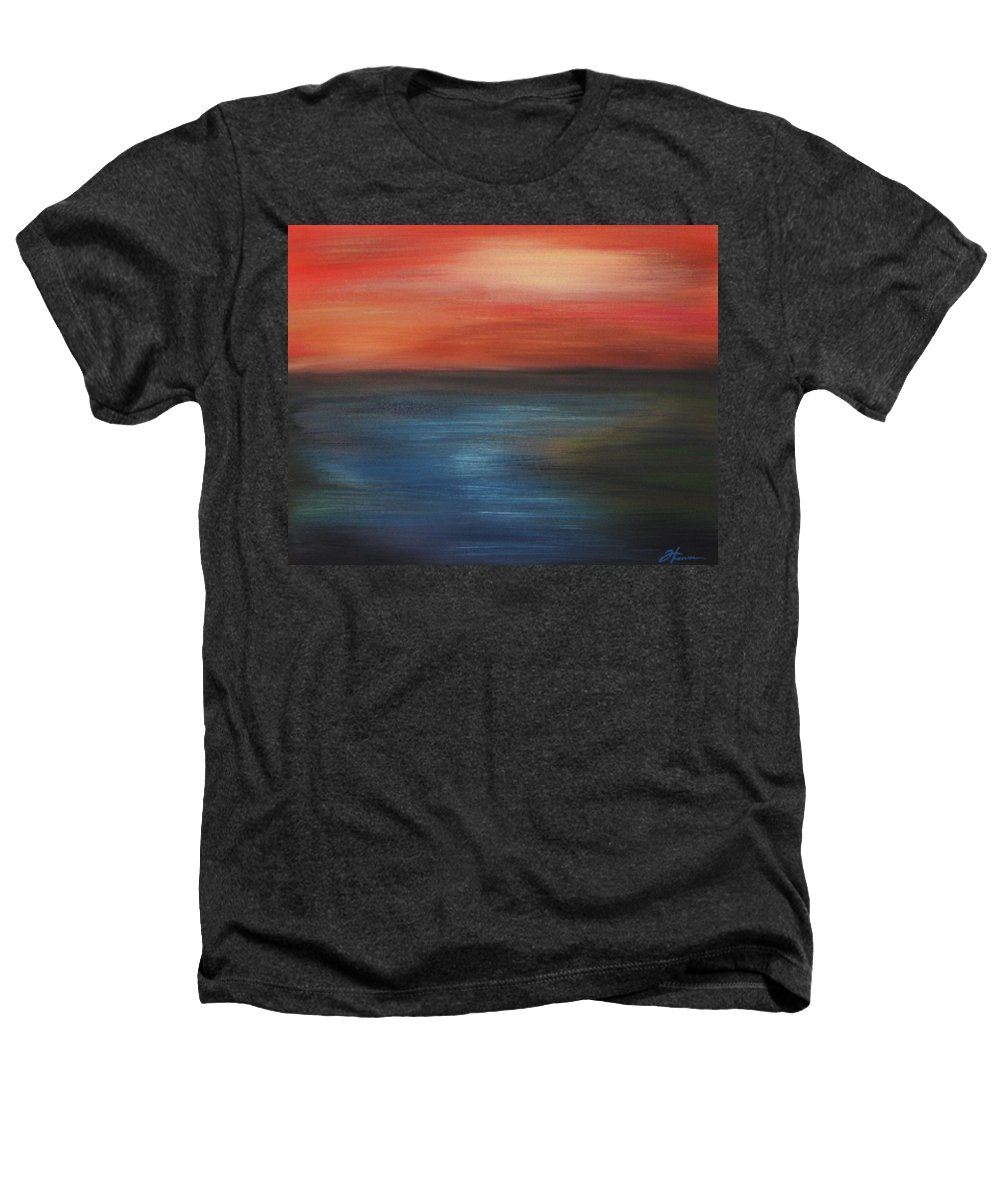 Scenic Heathers T-Shirt featuring the painting Serenity by Todd Hoover