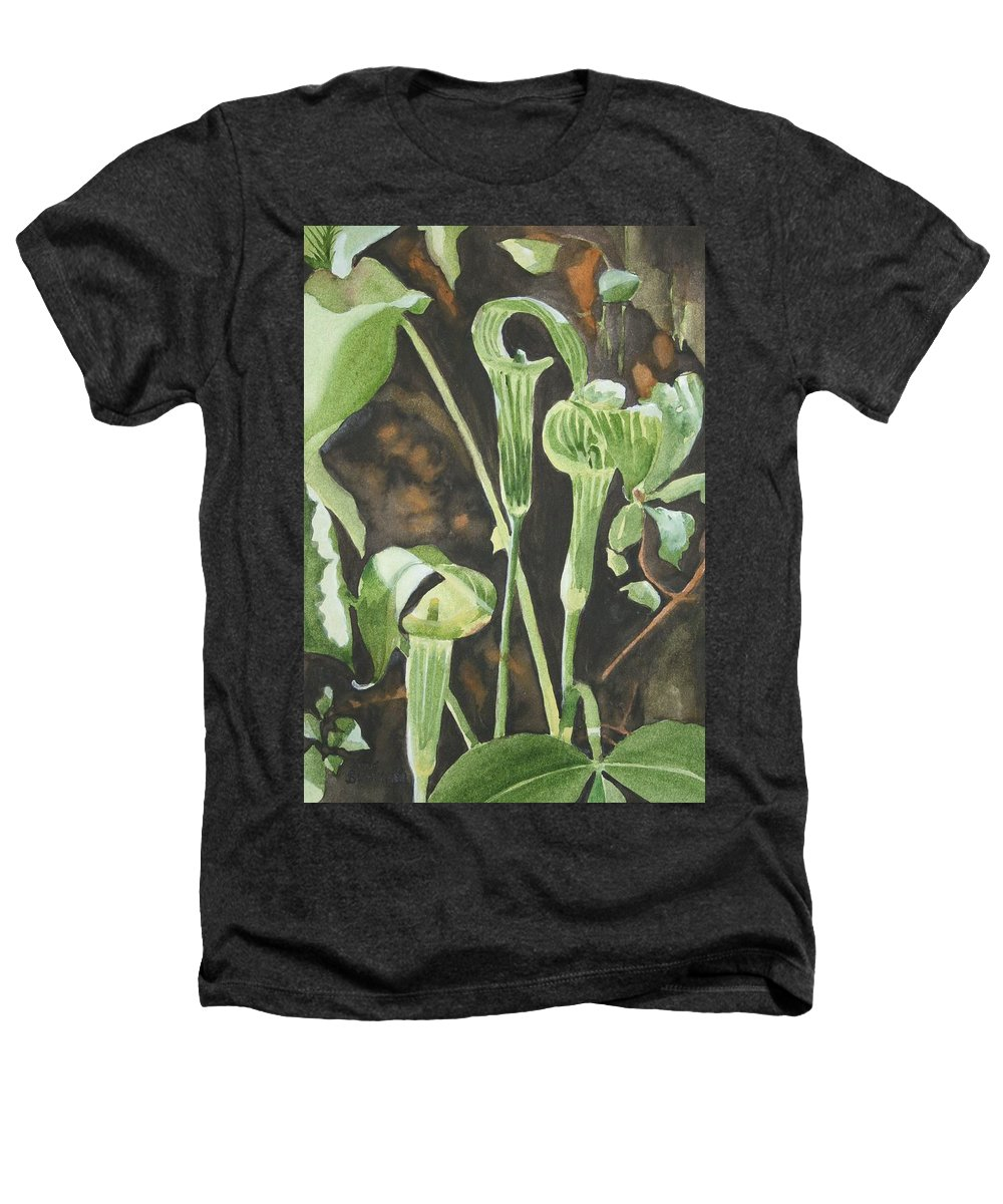 Woods Heathers T-Shirt featuring the painting Sermon In The Woods by Jean Blackmer
