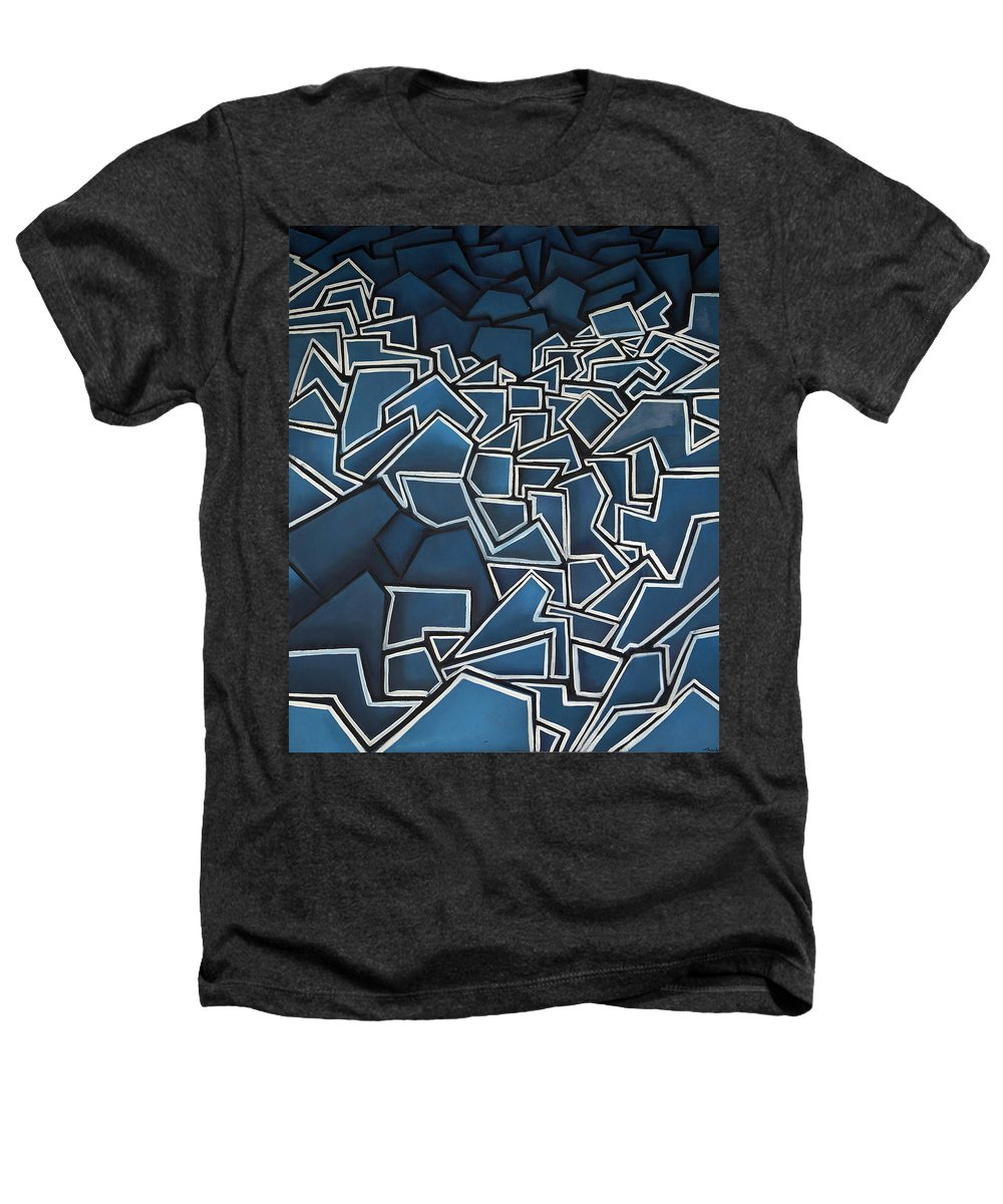 Abstract Heathers T-Shirt featuring the painting Shadderd Space by Thomas Valentine