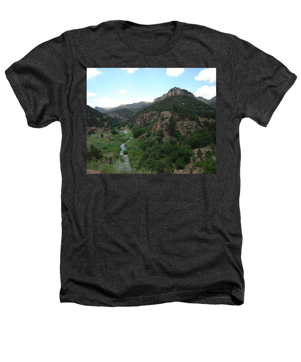 Shelf Road Heathers T-Shirt featuring the photograph Shelf Road Vista by Anita Burgermeister