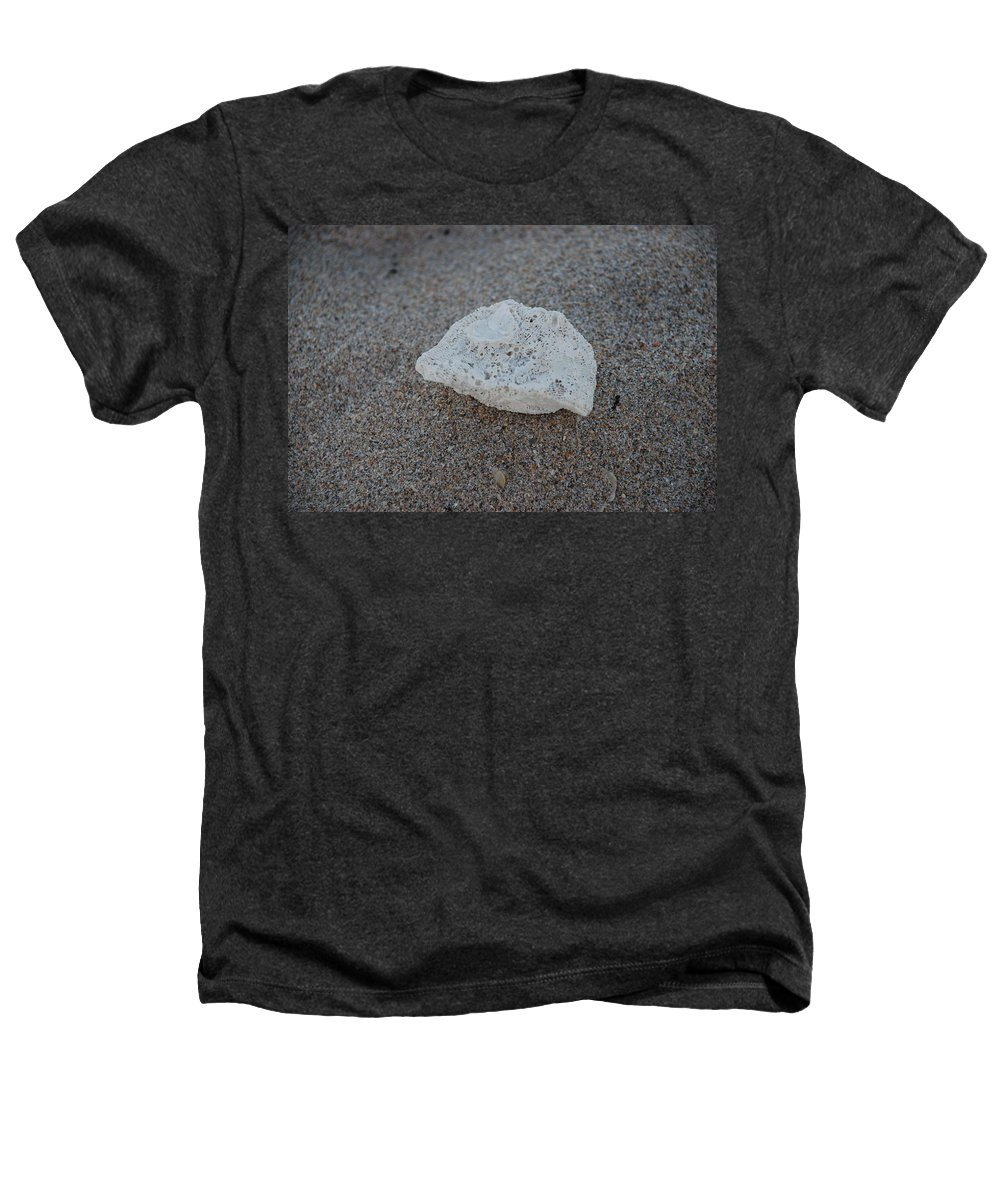 Shells Heathers T-Shirt featuring the photograph Shell And Sand by Rob Hans