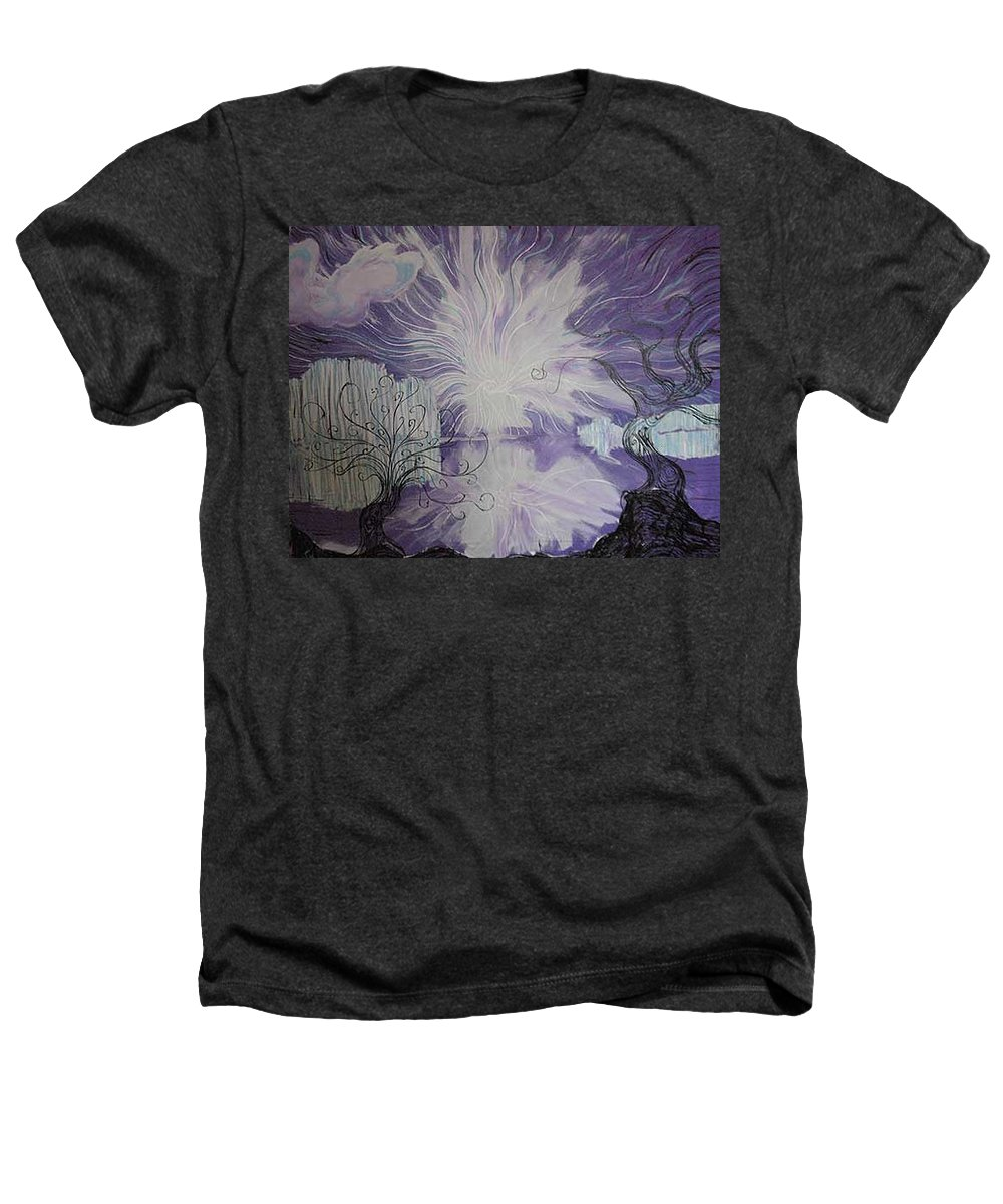 Squiggleism Heathers T-Shirt featuring the painting Shore Dance by Stefan Duncan