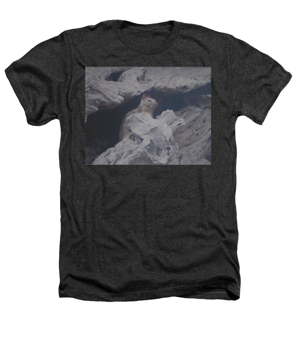 Squirrel Heathers T-Shirt featuring the photograph Silent Observer by Pharris Art