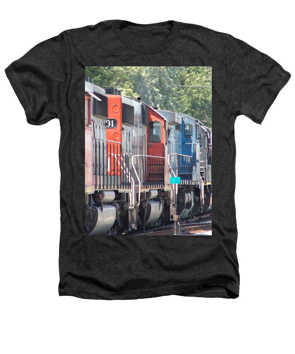 Heathers T-Shirt featuring the photograph Sitting In The Switching Yard by J R  Seymour