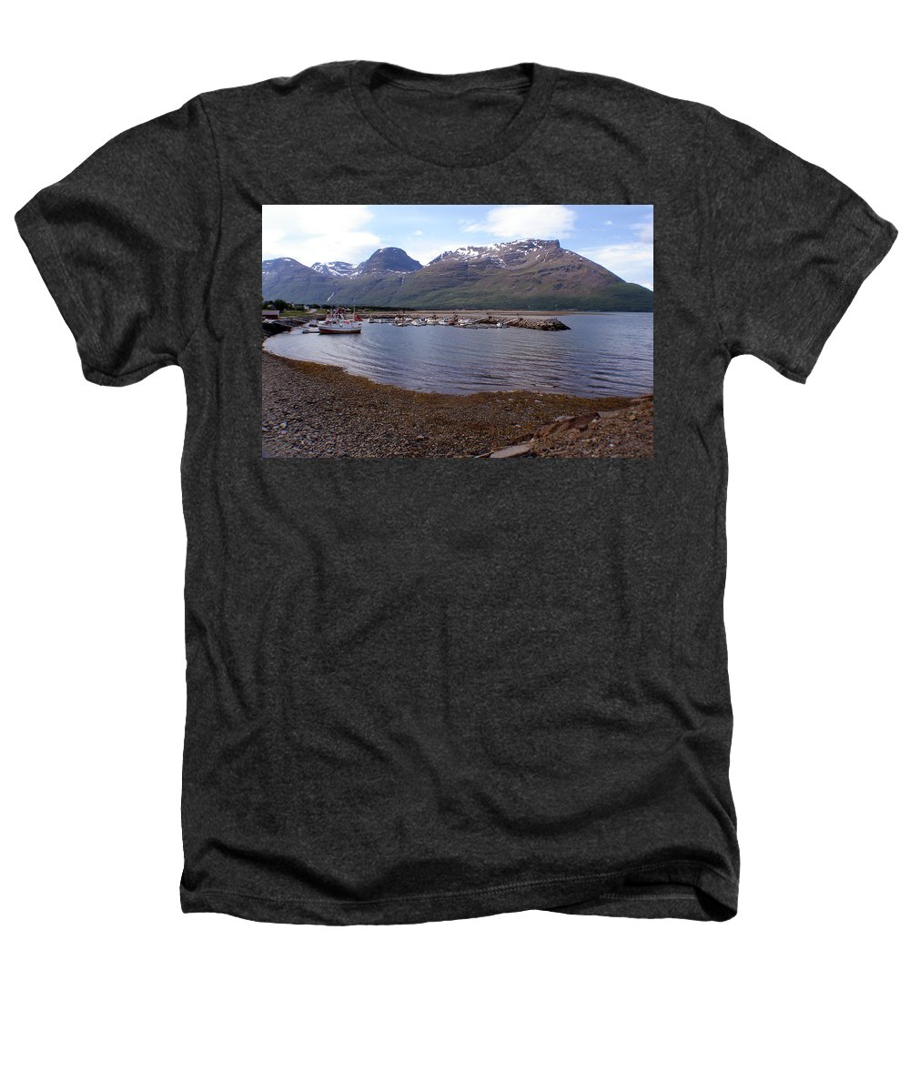 Skibotn Heathers T-Shirt featuring the photograph Skibotn Harbor Norway by Merja Waters