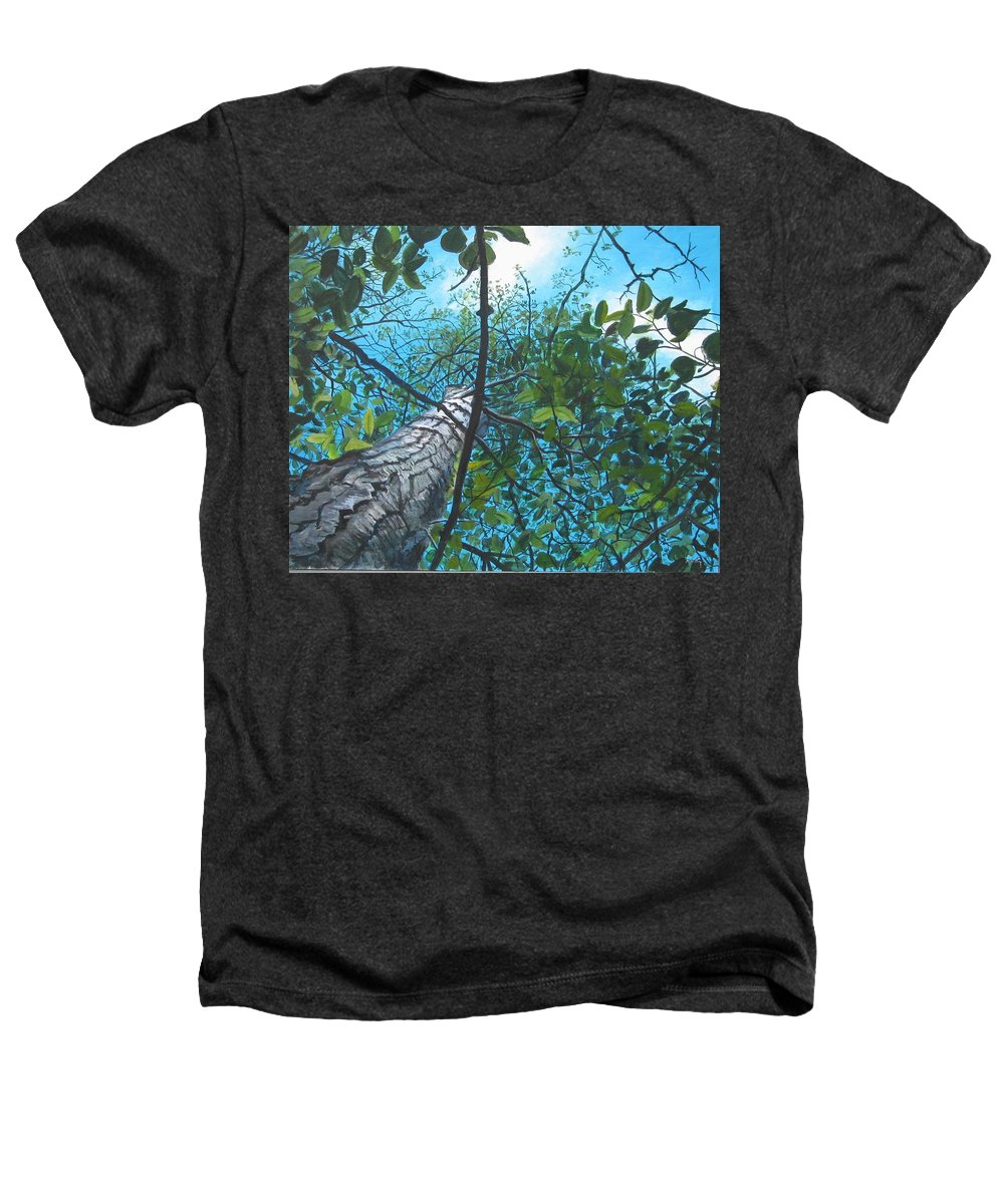 Landscape Heathers T-Shirt featuring the painting Skyward by William Brody