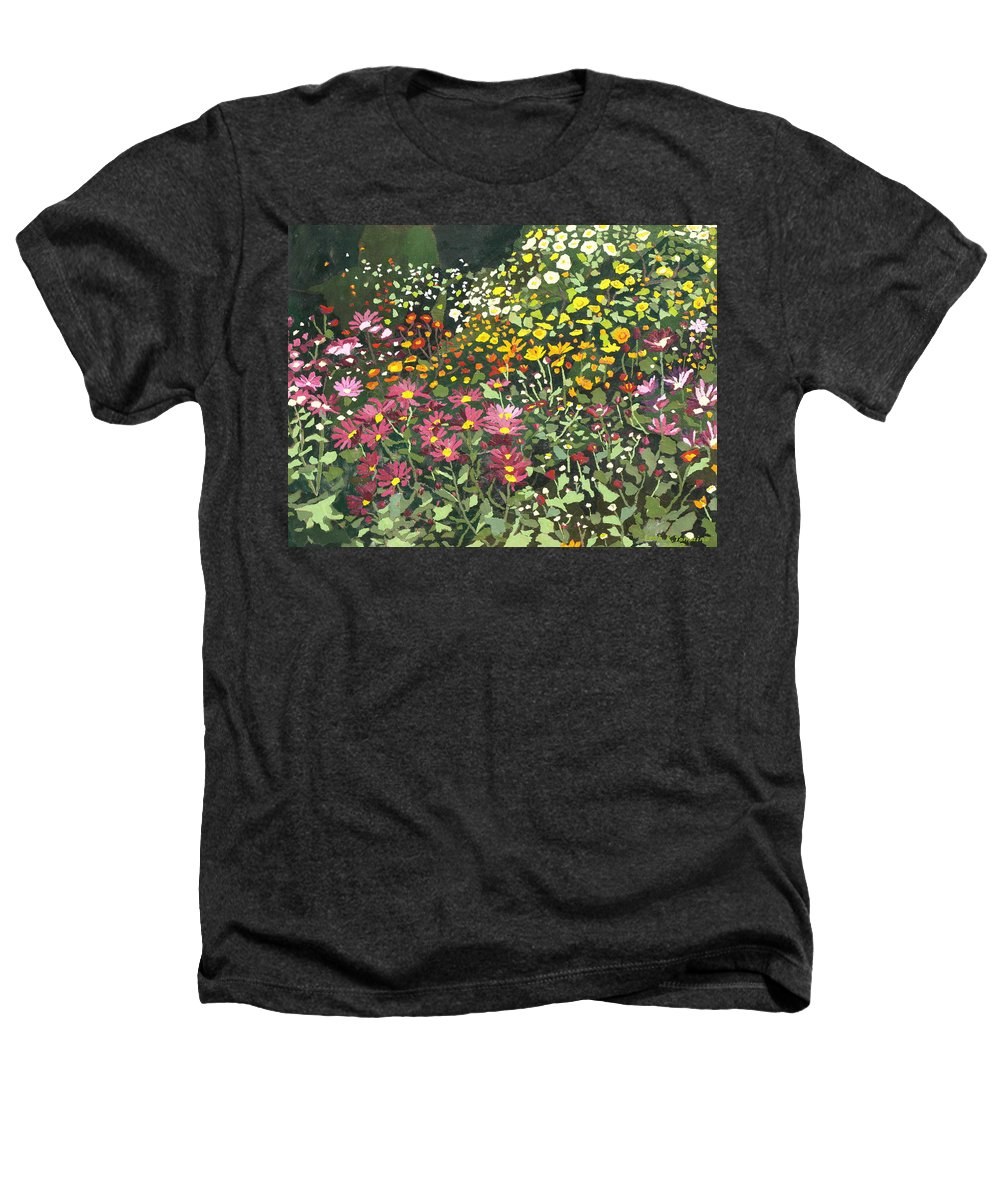 Floral Heathers T-Shirt featuring the painting Smith Mums by Leah Tomaino