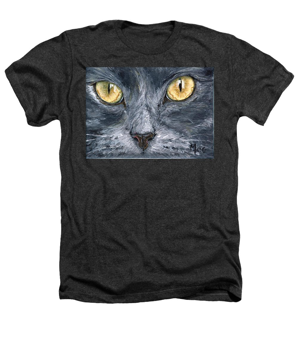 Charity Heathers T-Shirt featuring the painting Smokey by Mary-Lee Sanders
