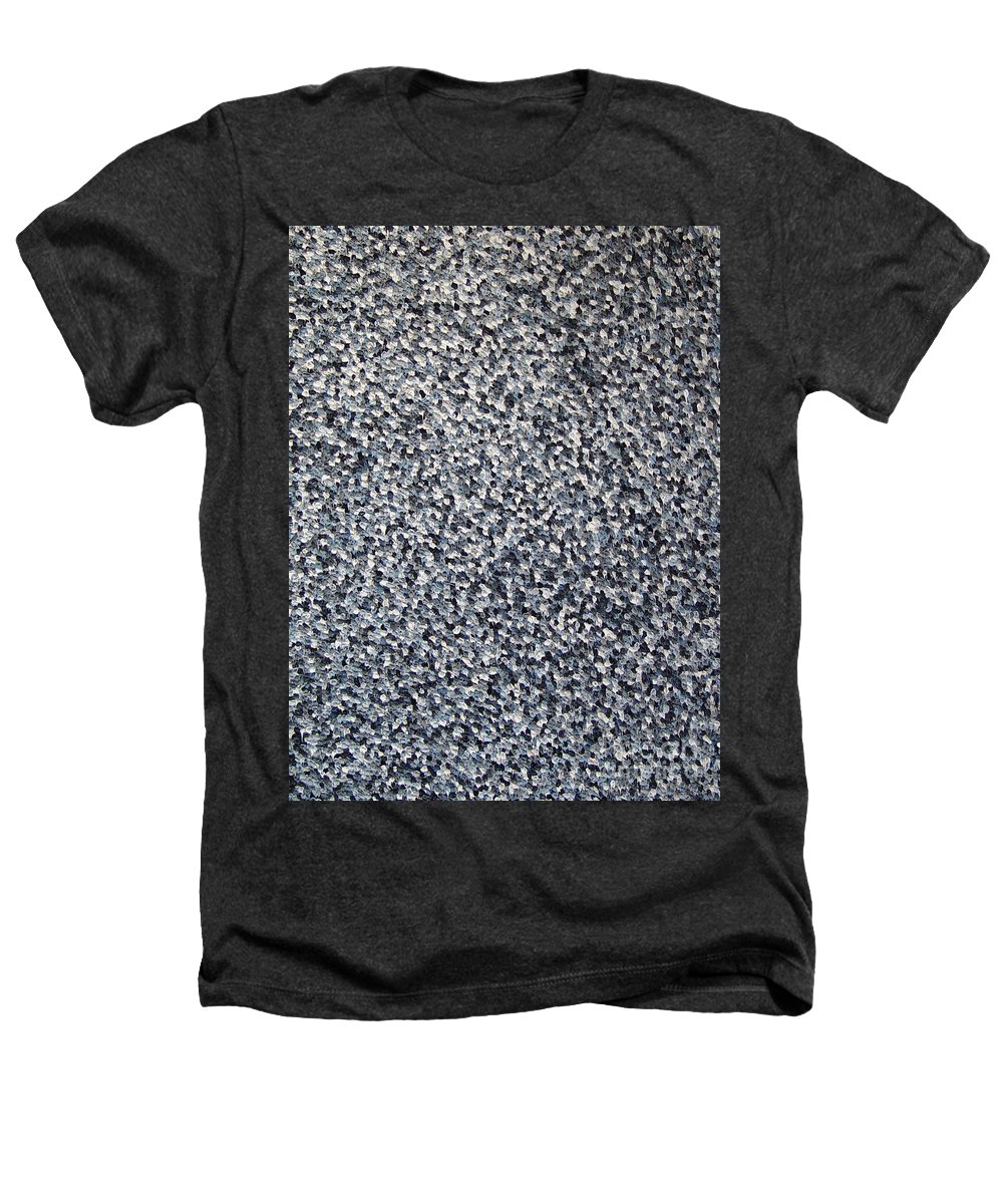 Abstract Heathers T-Shirt featuring the painting Soft Grey Scale by Dean Triolo