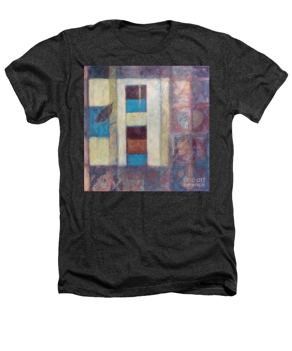 Spiritual Heathers T-Shirt featuring the painting Spirit Of Gold - States Of Being by Kerryn Madsen- Pietsch