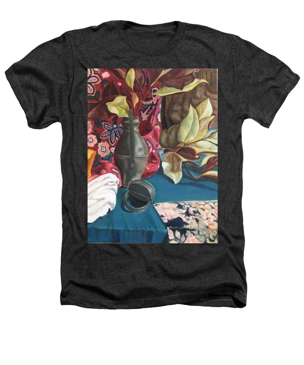 Still-life Heathers T-Shirt featuring the painting Still-life With Magnolia Leaves by Piety Choi