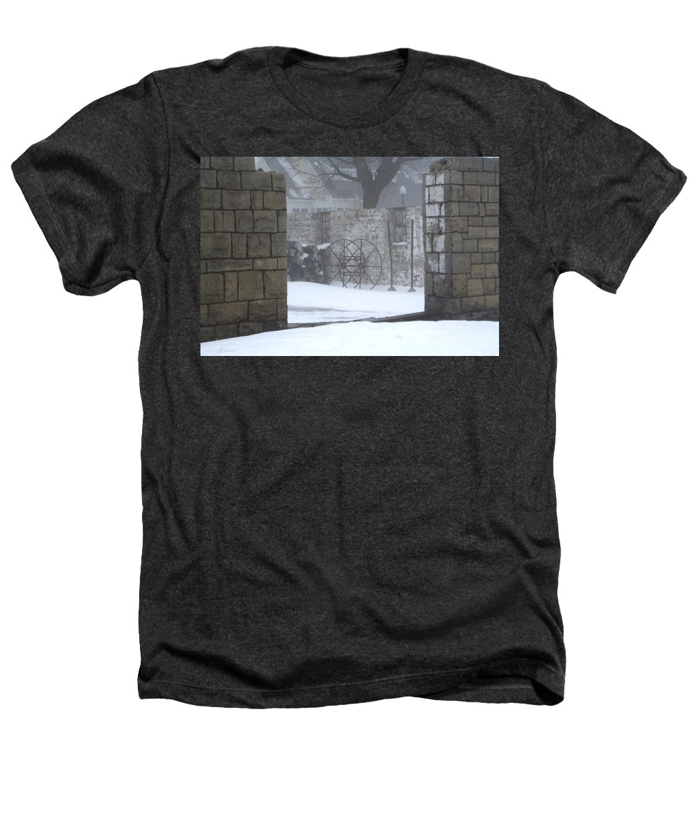 Winter Heathers T-Shirt featuring the photograph Stone Cellar by Tim Nyberg