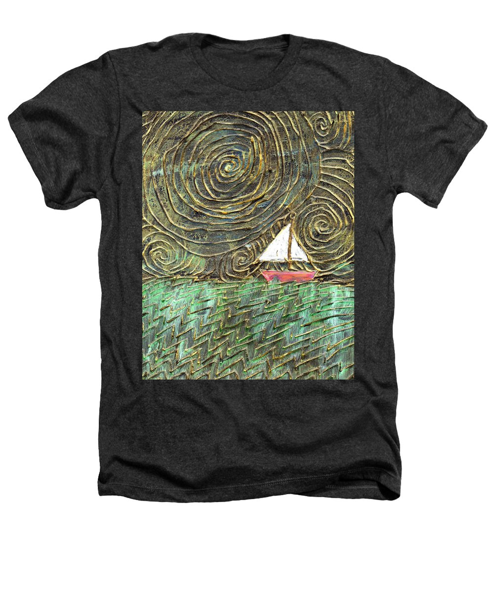 Storm Heathers T-Shirt featuring the painting Stormy Night by Wayne Potrafka