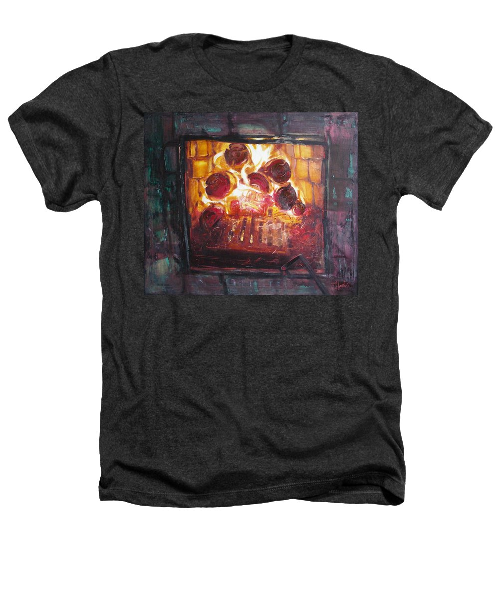 Oil Heathers T-Shirt featuring the painting Stove by Sergey Ignatenko