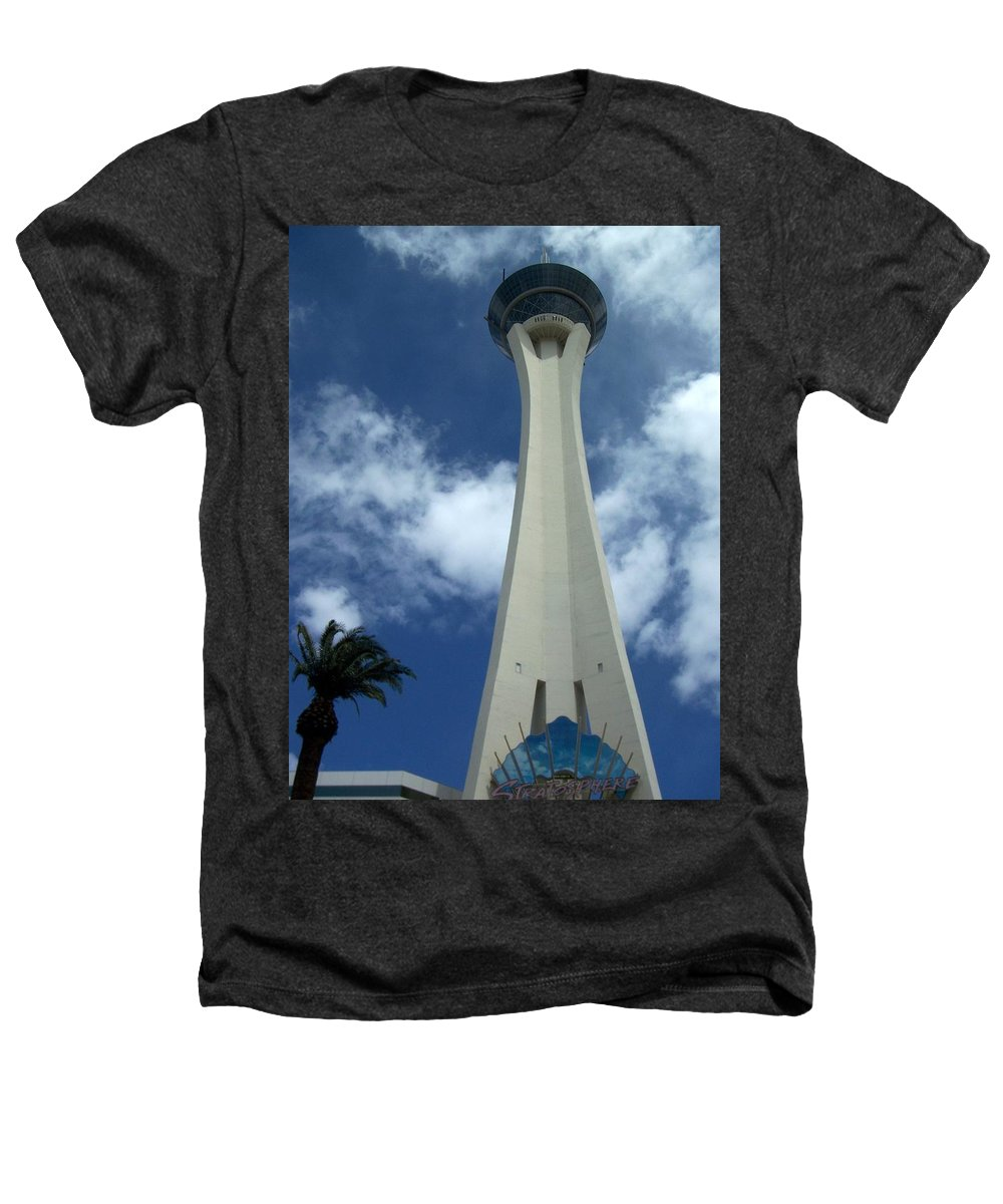Stratosphere Tower Heathers T-Shirt featuring the photograph Stratosphere Tower by Anita Burgermeister