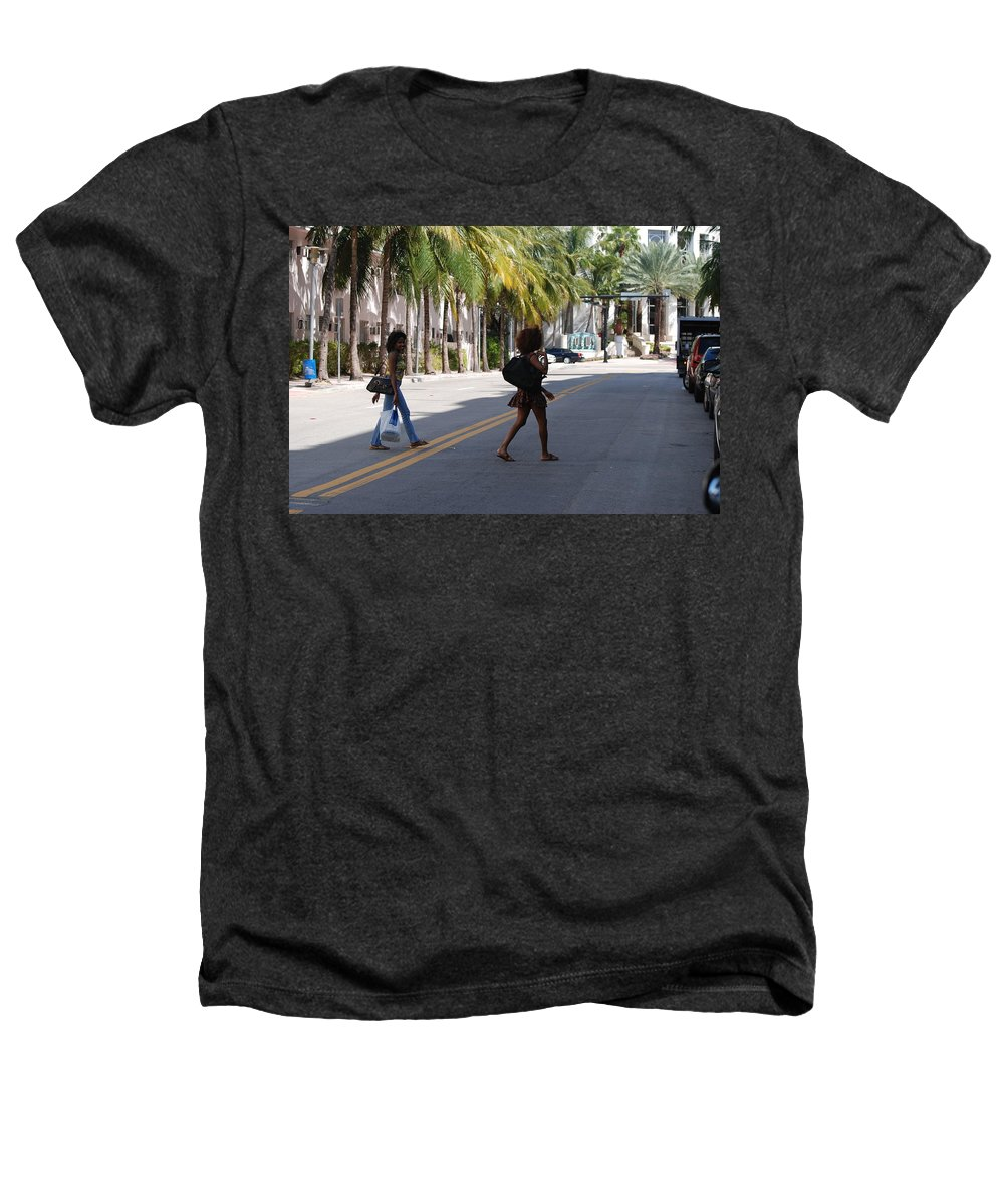Girls Heathers T-Shirt featuring the photograph Street Walkers by Rob Hans