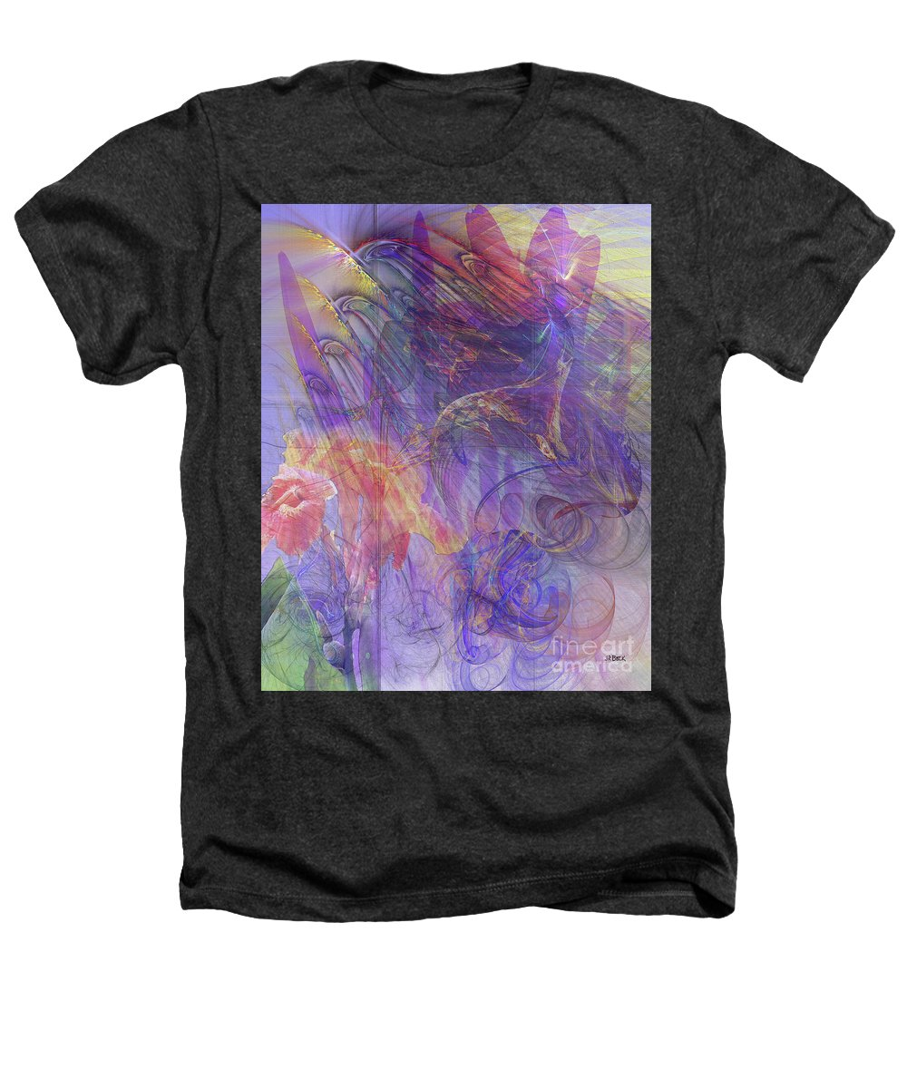 Summer Awakes Heathers T-Shirt featuring the digital art Summer Awakes by John Beck