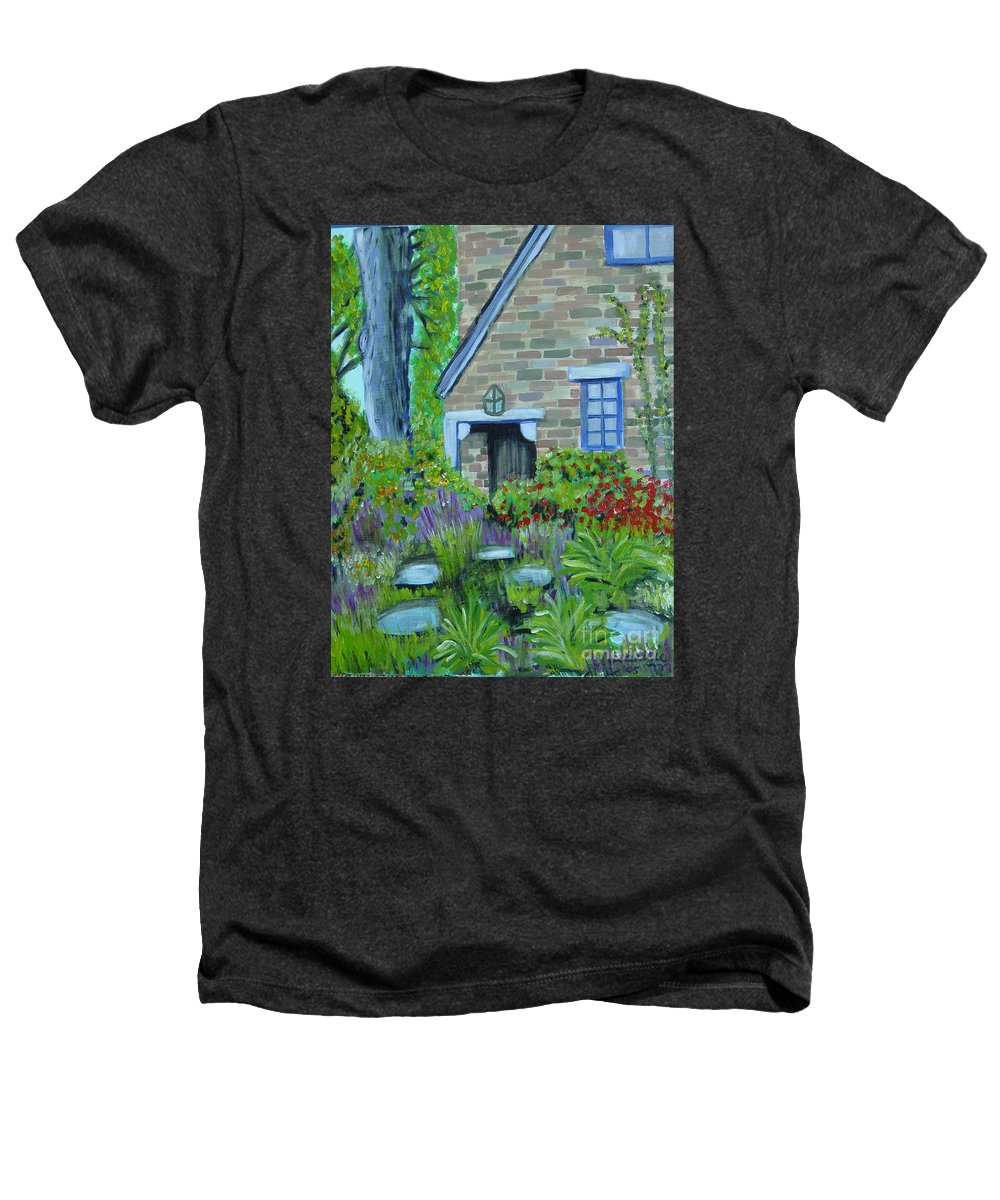 Cottage Heathers T-Shirt featuring the painting Summer Retreat by Laurie Morgan