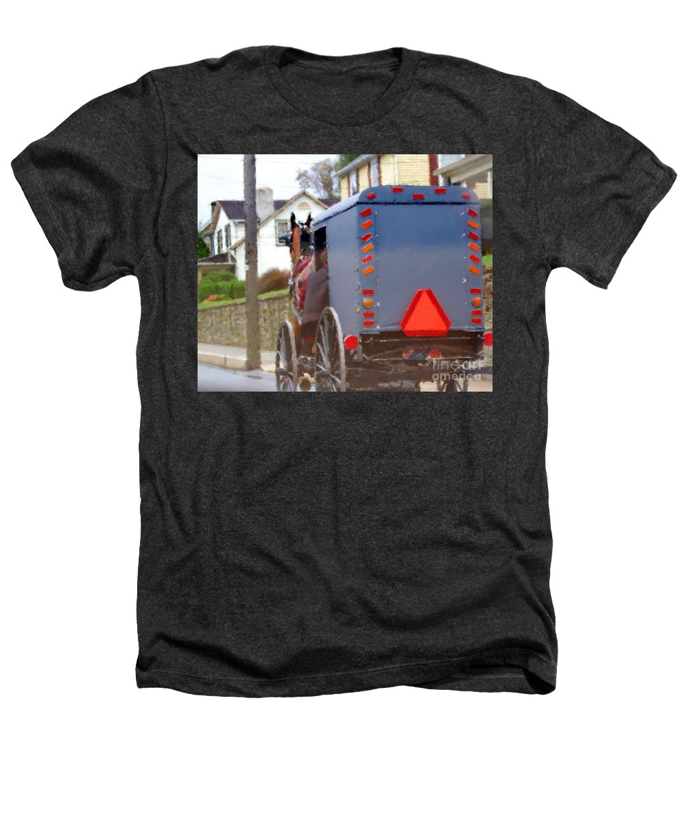 Amish Heathers T-Shirt featuring the photograph Sunday Courting by Debbi Granruth