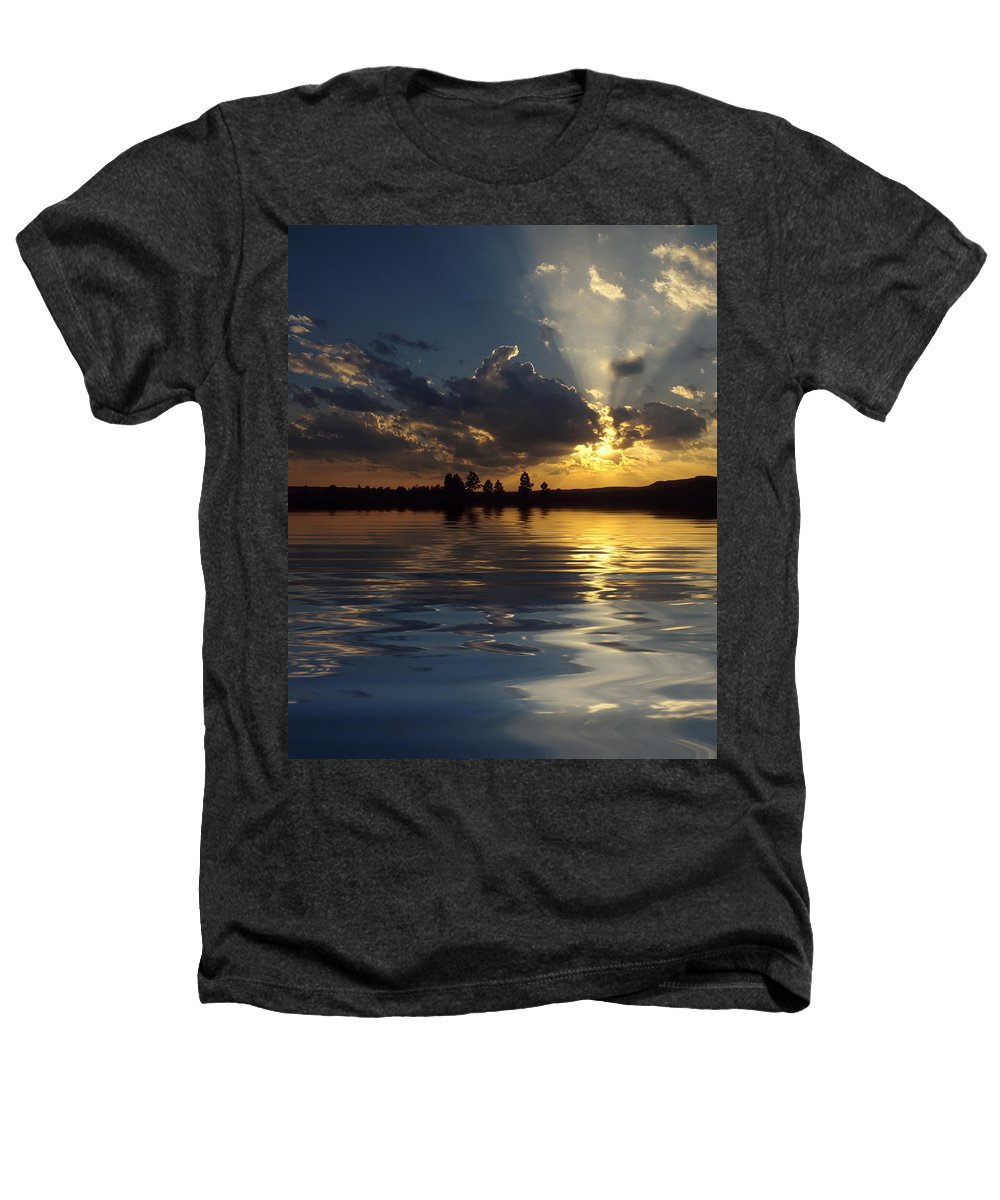 Sunset Heathers T-Shirt featuring the photograph Sunray Sunset by Jerry McElroy
