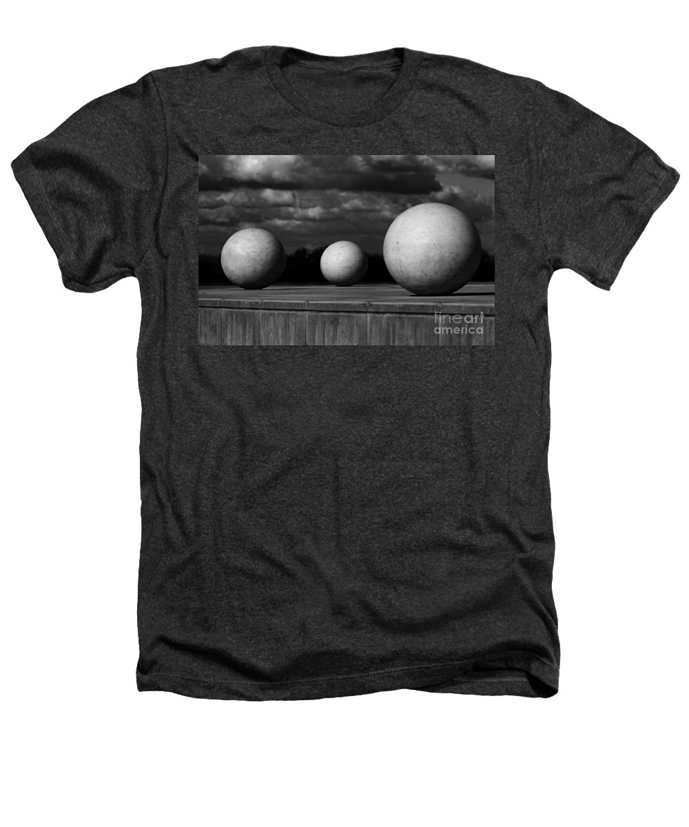 Black And White Heathers T-Shirt featuring the photograph Surreal Globes by Peter Piatt