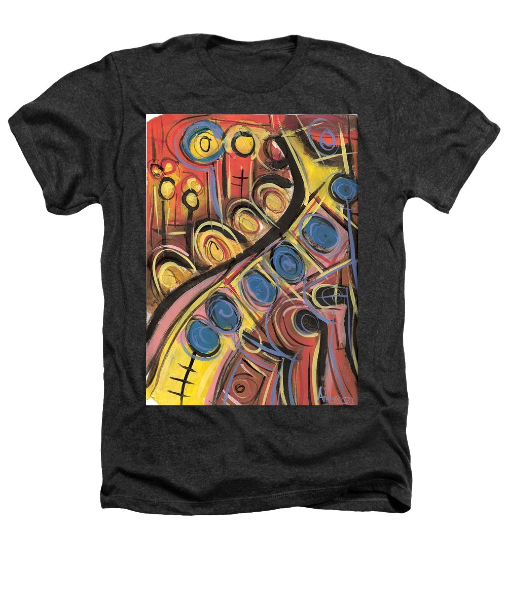 Abstract Painting Heathers T-Shirt featuring the painting Sweet Music by Americo Salazar