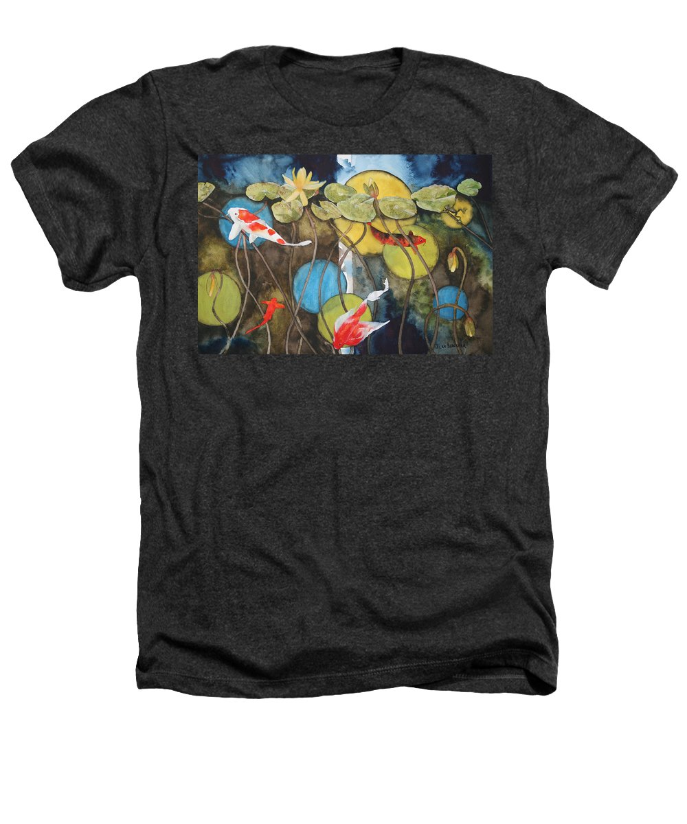 Abstract Heathers T-Shirt featuring the painting Swimming In Circles by Jean Blackmer