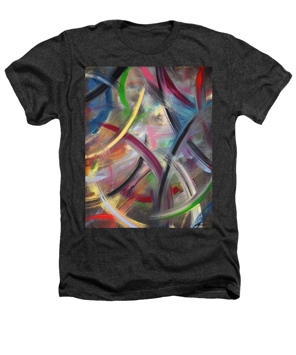 Acrylic Heathers T-Shirt featuring the painting Swish by Todd Hoover