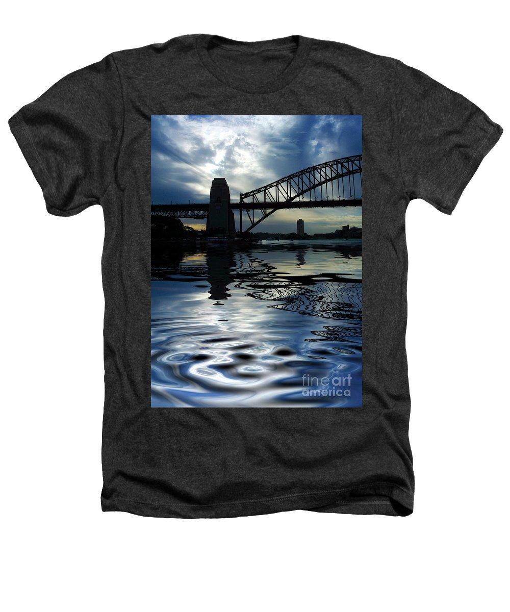 Sydney Harbour Australia Bridge Reflection Heathers T-Shirt featuring the photograph Sydney Harbour Bridge Reflection by Sheila Smart Fine Art Photography