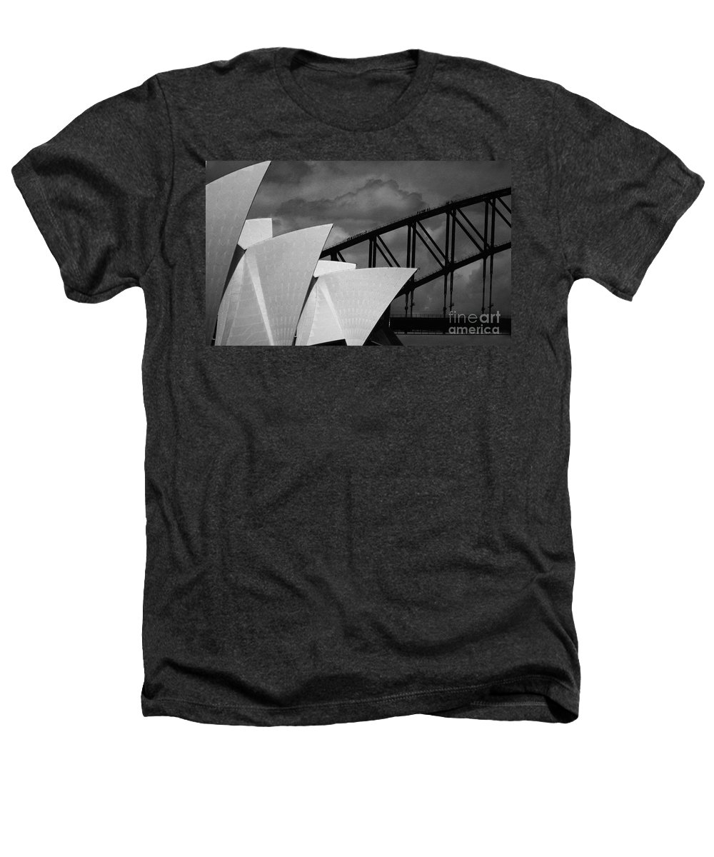 Sydney Opera House Heathers T-Shirt featuring the photograph Sydney Opera House With Harbour Bridge by Sheila Smart Fine Art Photography