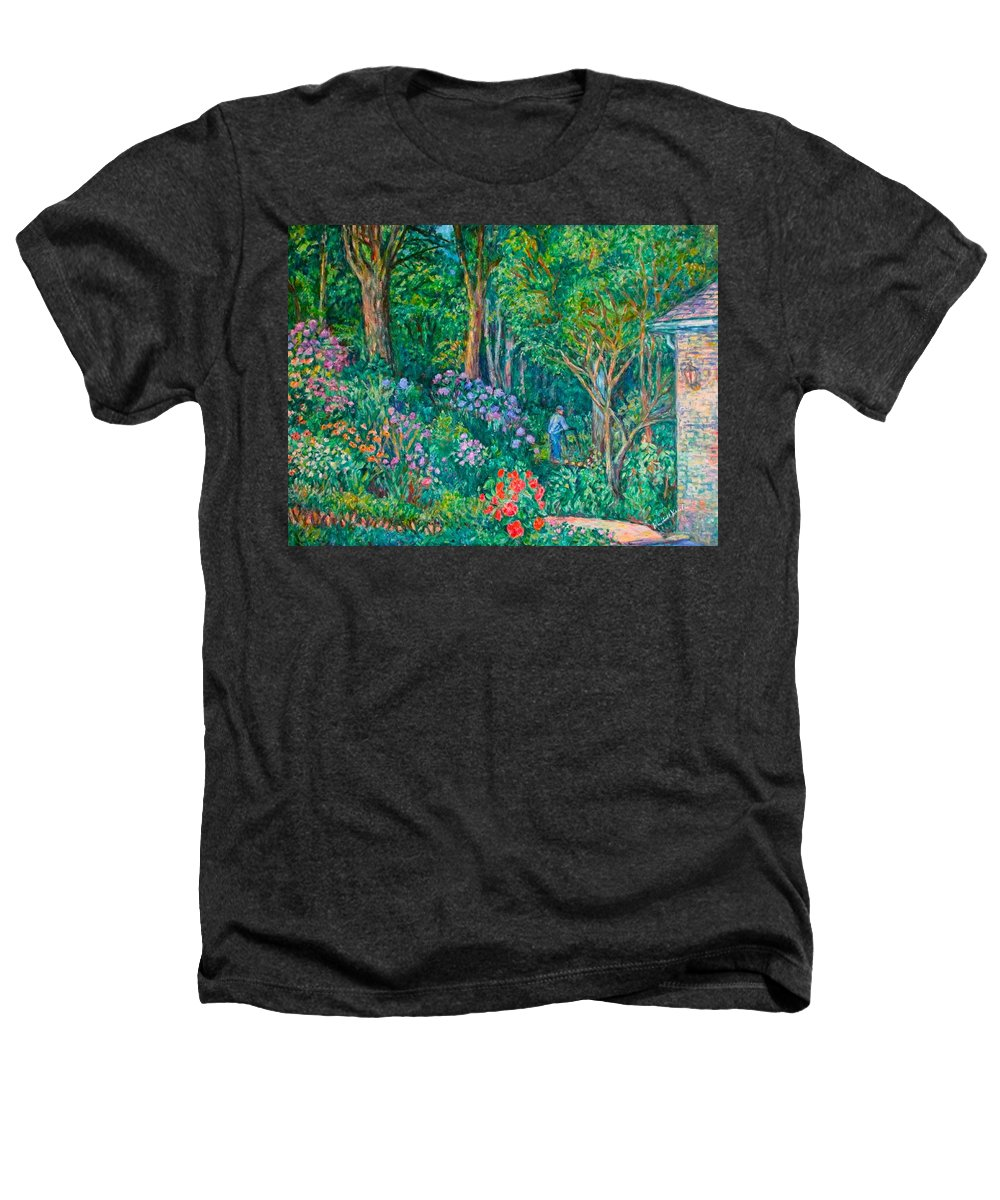 Suburban Paintings Heathers T-Shirt featuring the painting Taking A Break by Kendall Kessler