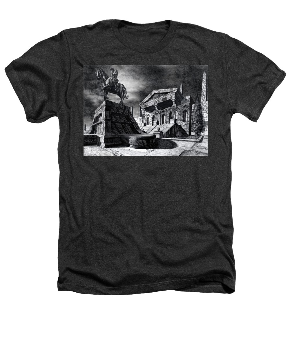 Greek Architecture Heathers T-Shirt featuring the drawing Temple Of Perseus by Curtiss Shaffer