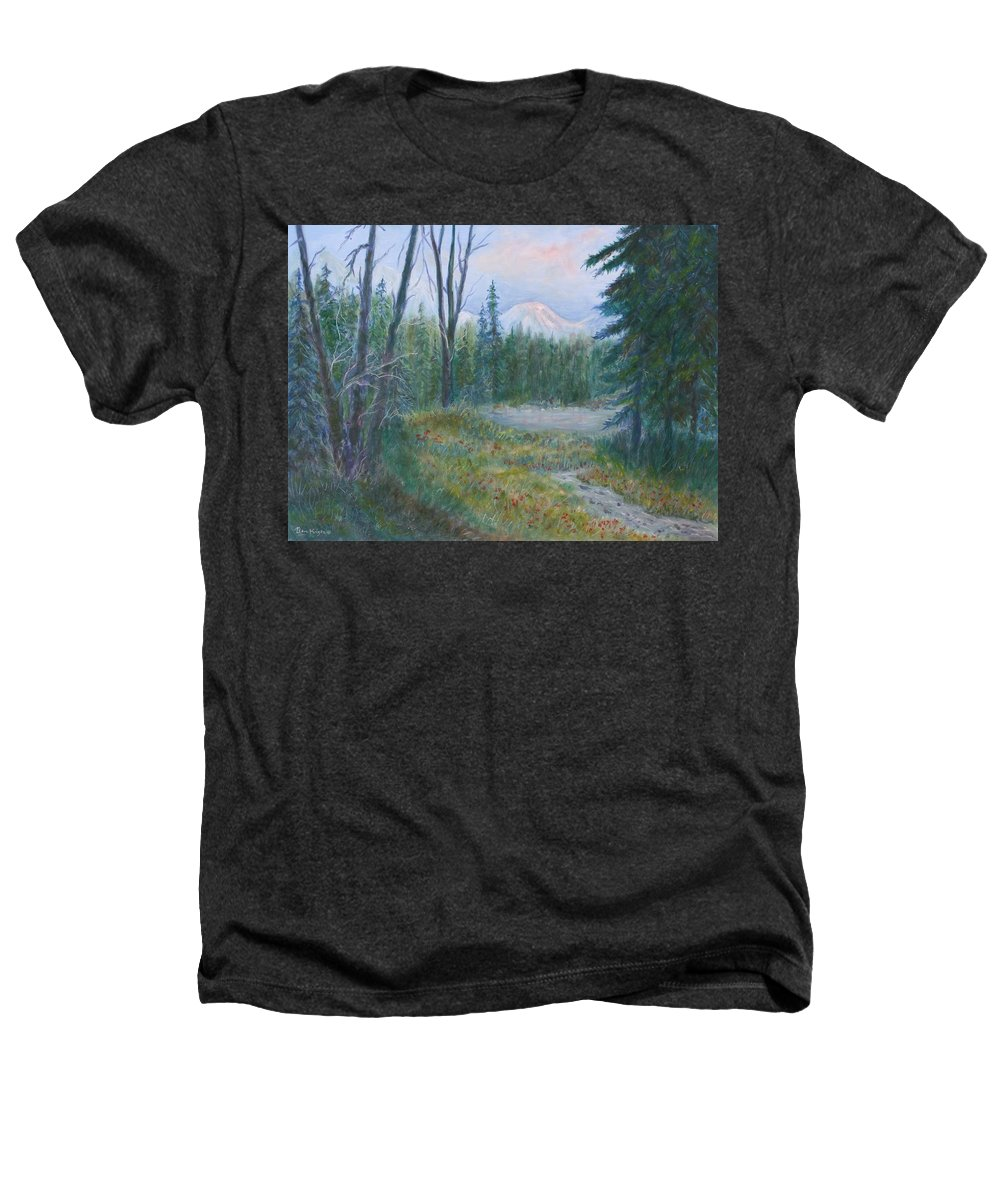 Landscape Heathers T-Shirt featuring the painting Teton Valley by Ben Kiger