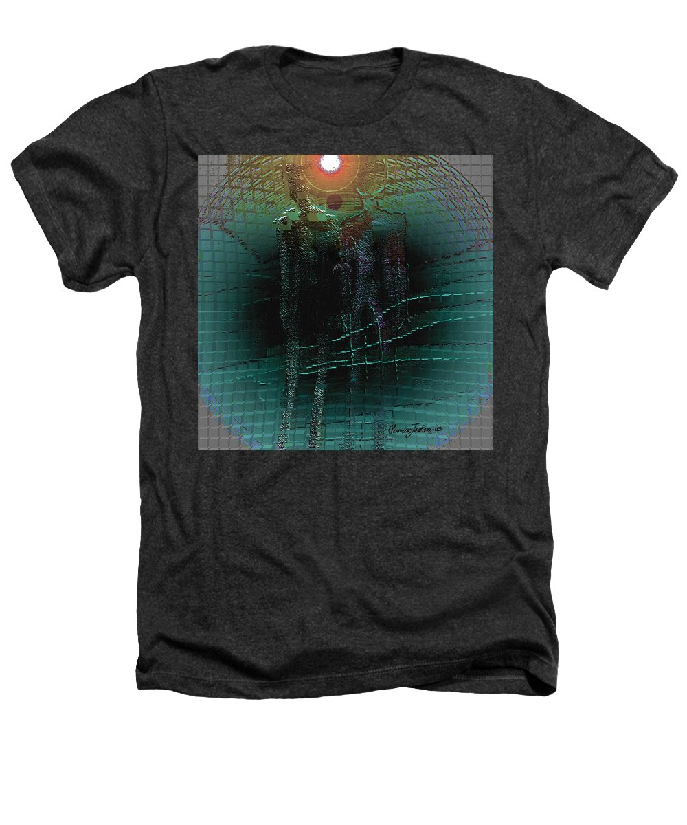 People Alien Arrival Visitors Heathers T-Shirt featuring the digital art The Arrival by Veronica Jackson